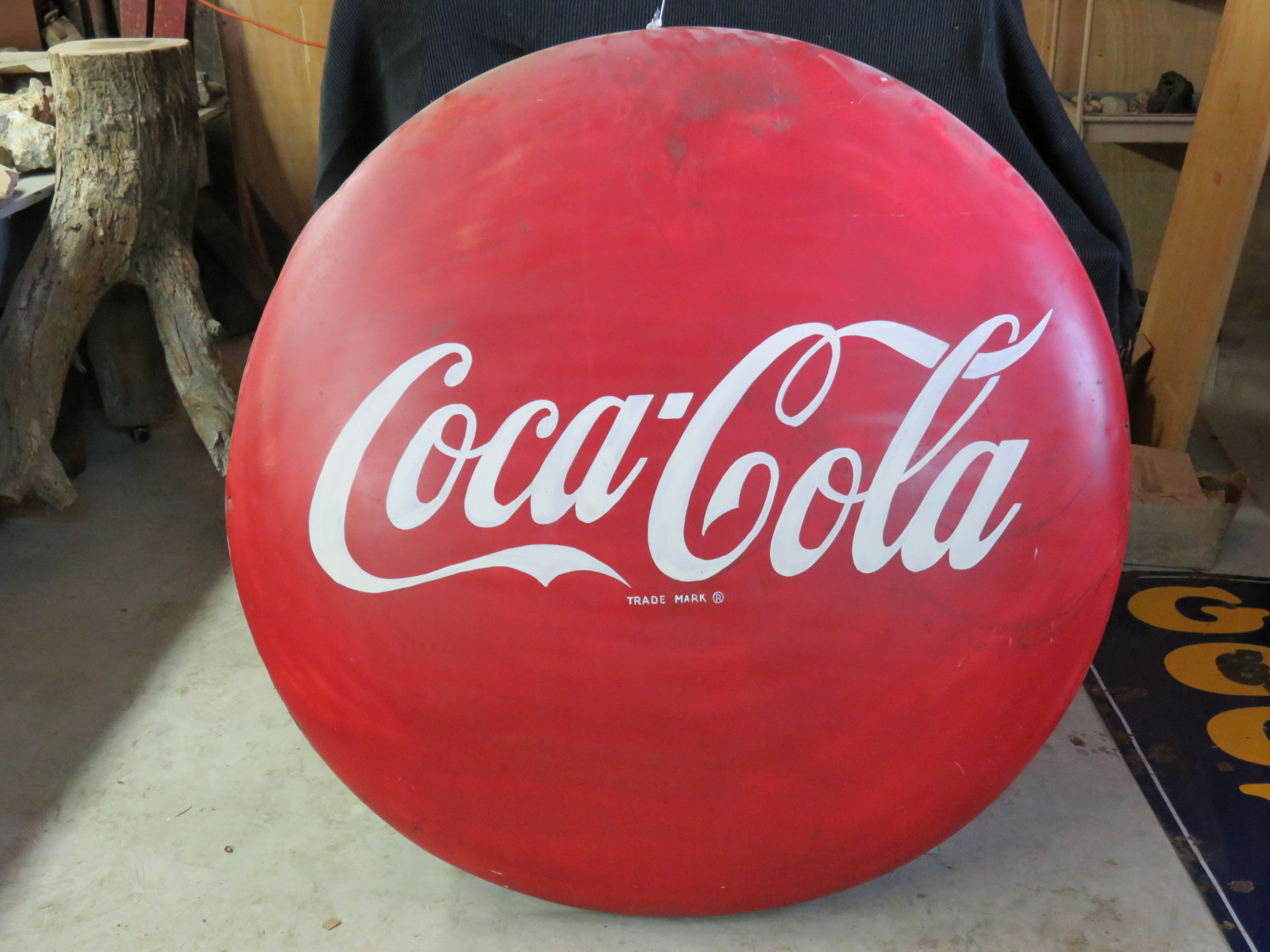 Painted Coca Cola Button - Image 1