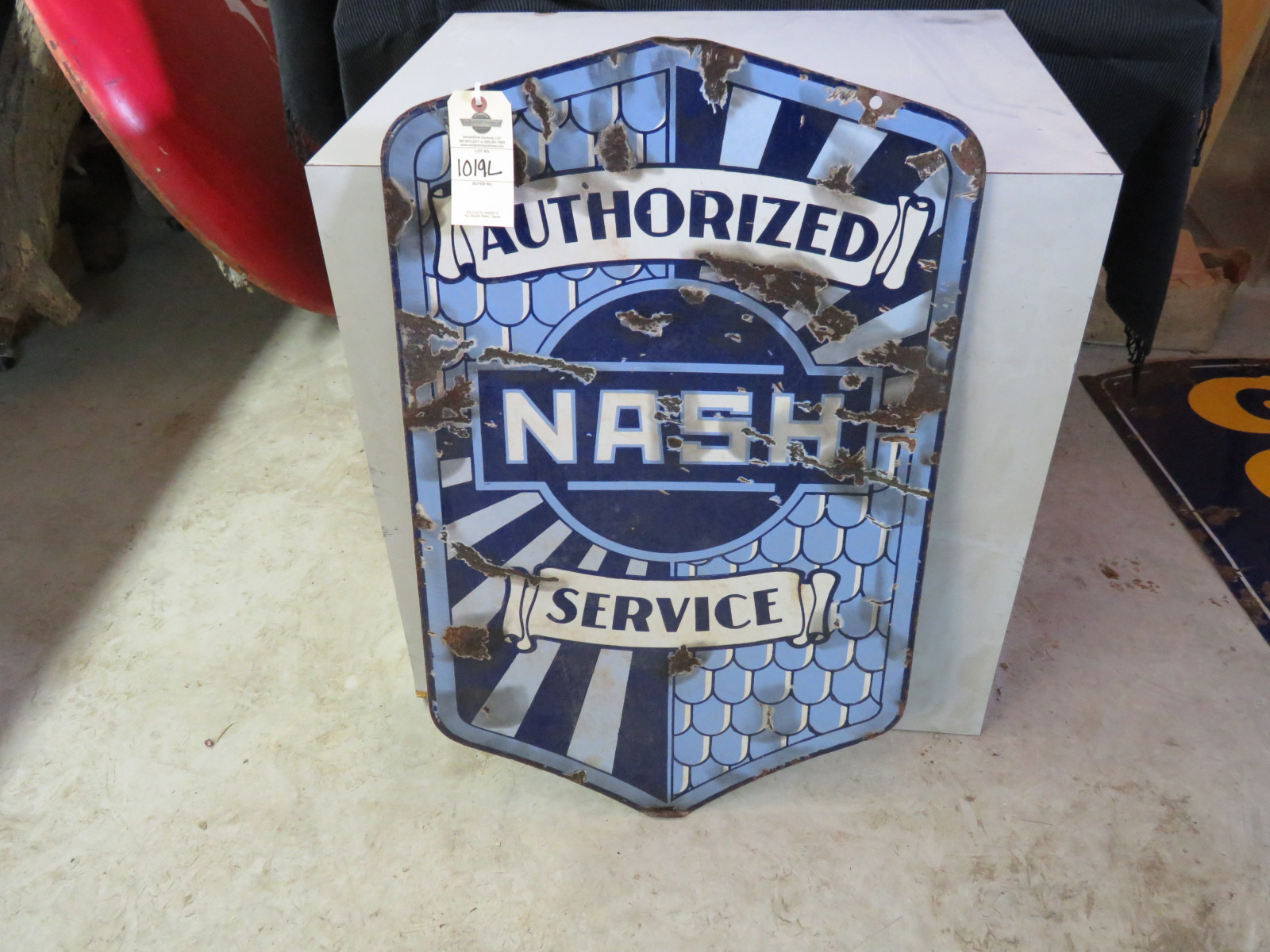 Nash Authorized Service Porcelain Sign - Image 1