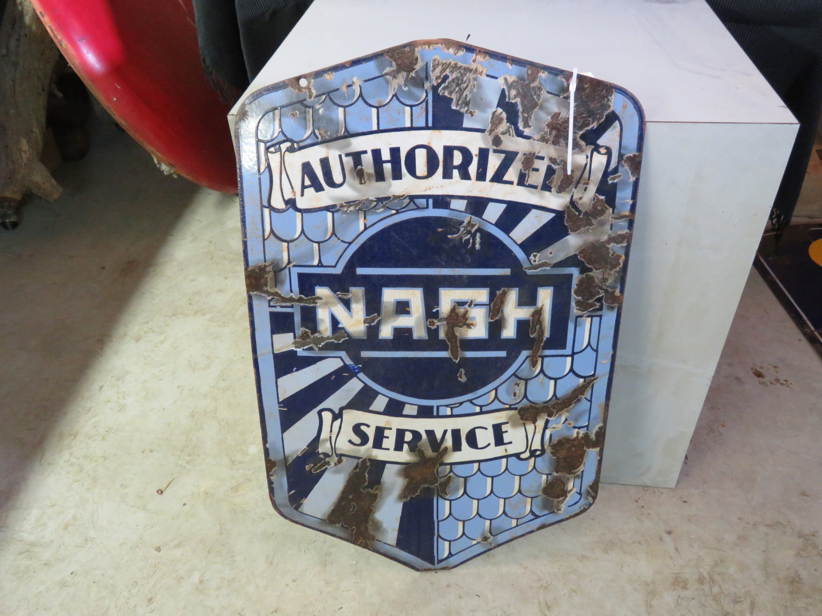 Nash Authorized Service Porcelain Sign - Image 2