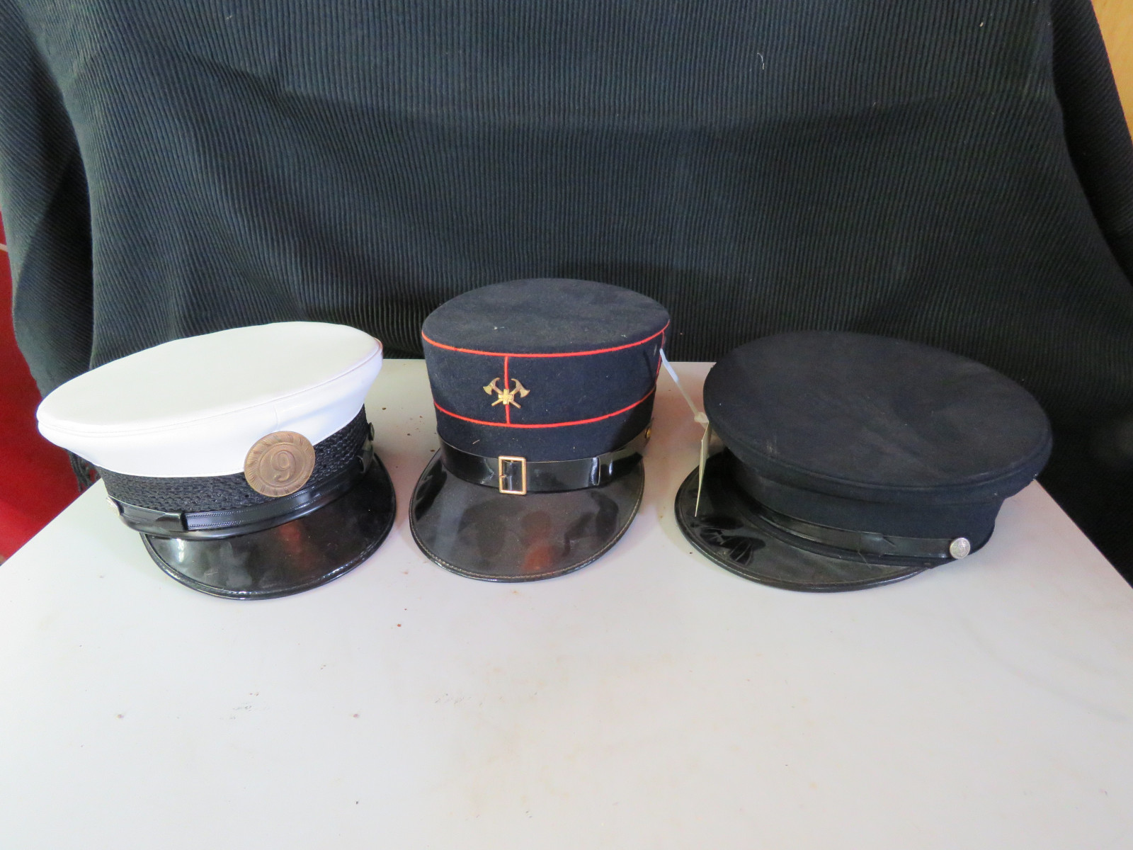 3 Vintage Fire Chief Helmets - Image 1