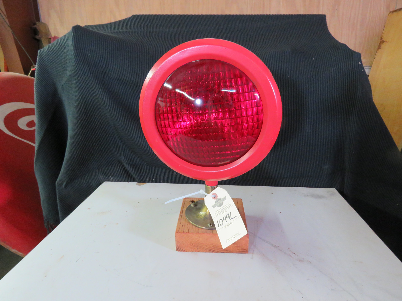 Vintage Red Signal Light - Image 1