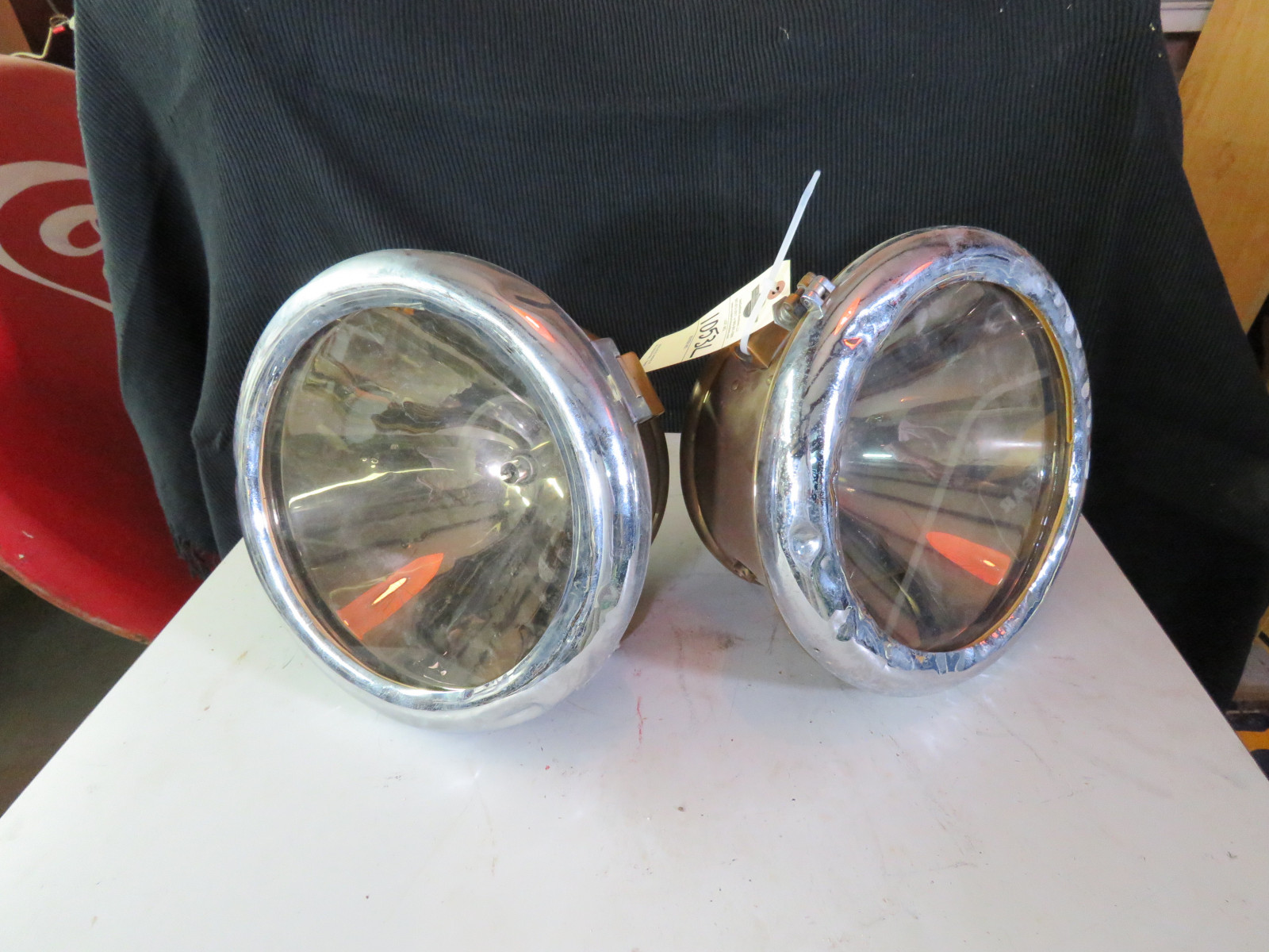 Pair of Used Brass Headlights - Image 1