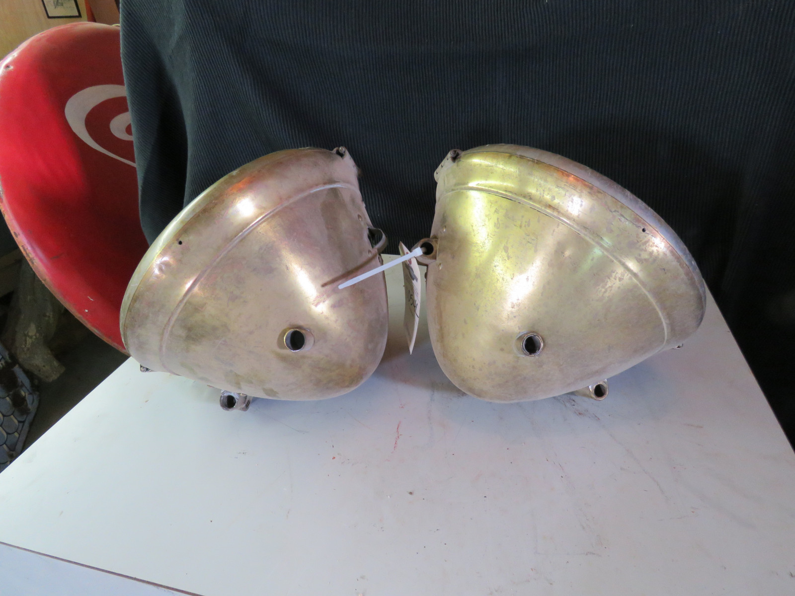 Pair of Used Brass Headlights - Image 2