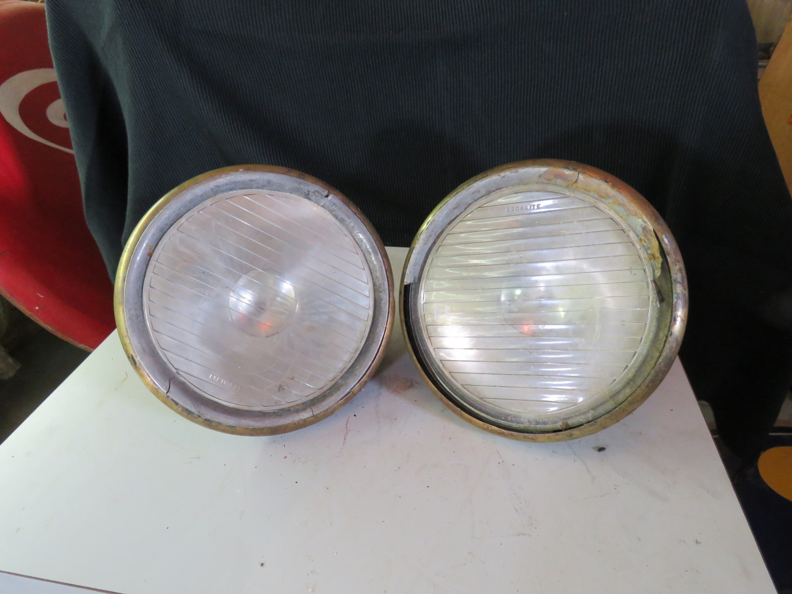 Pair of Brass Headlights - Image 1