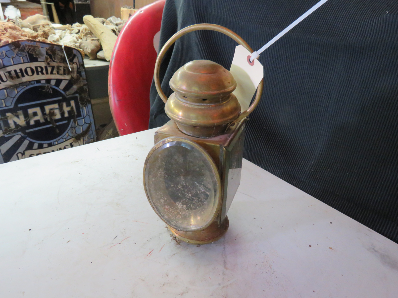 Brass Side Lamp - Image 1