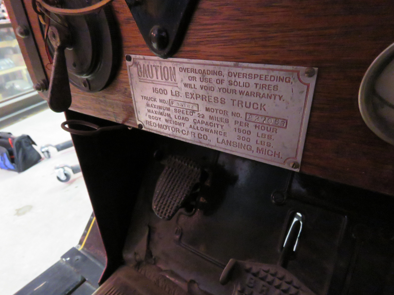 Rare 1920 REO Speedwagon Canopy Express Truck - Image 15