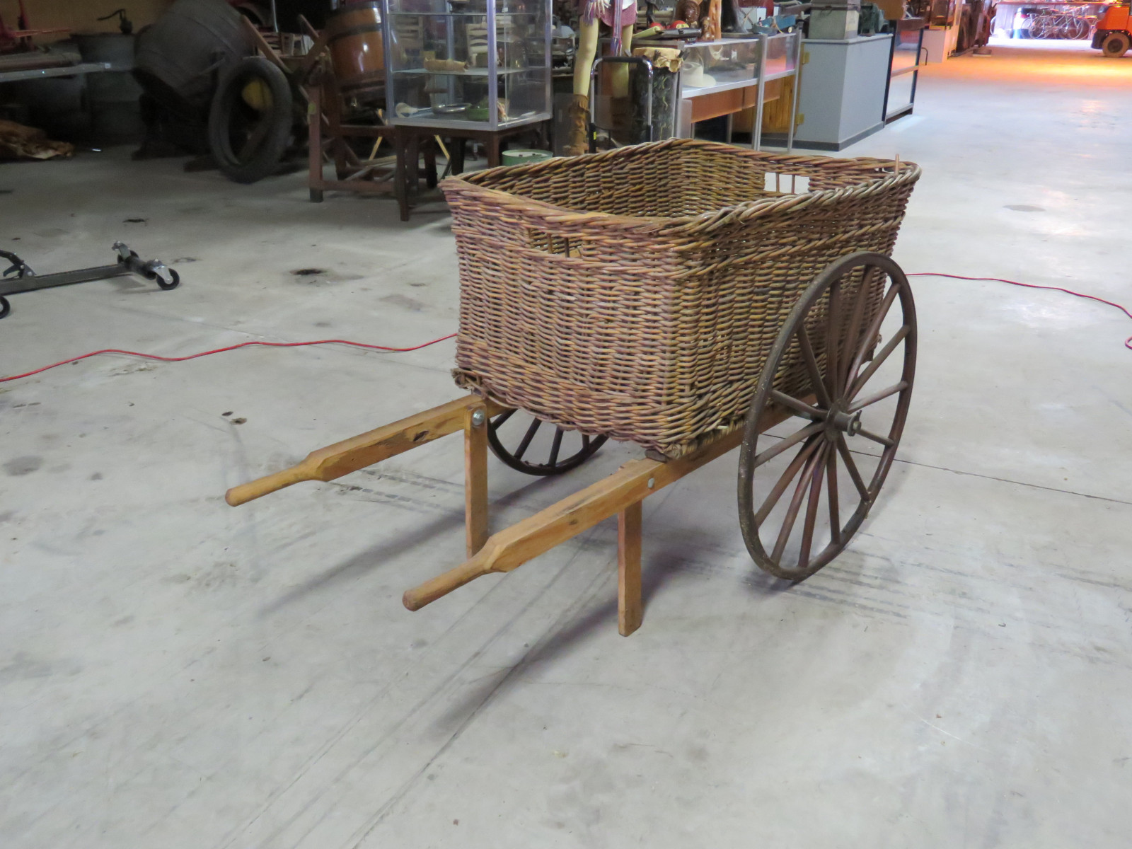Wicker Pony Cart - Image 1