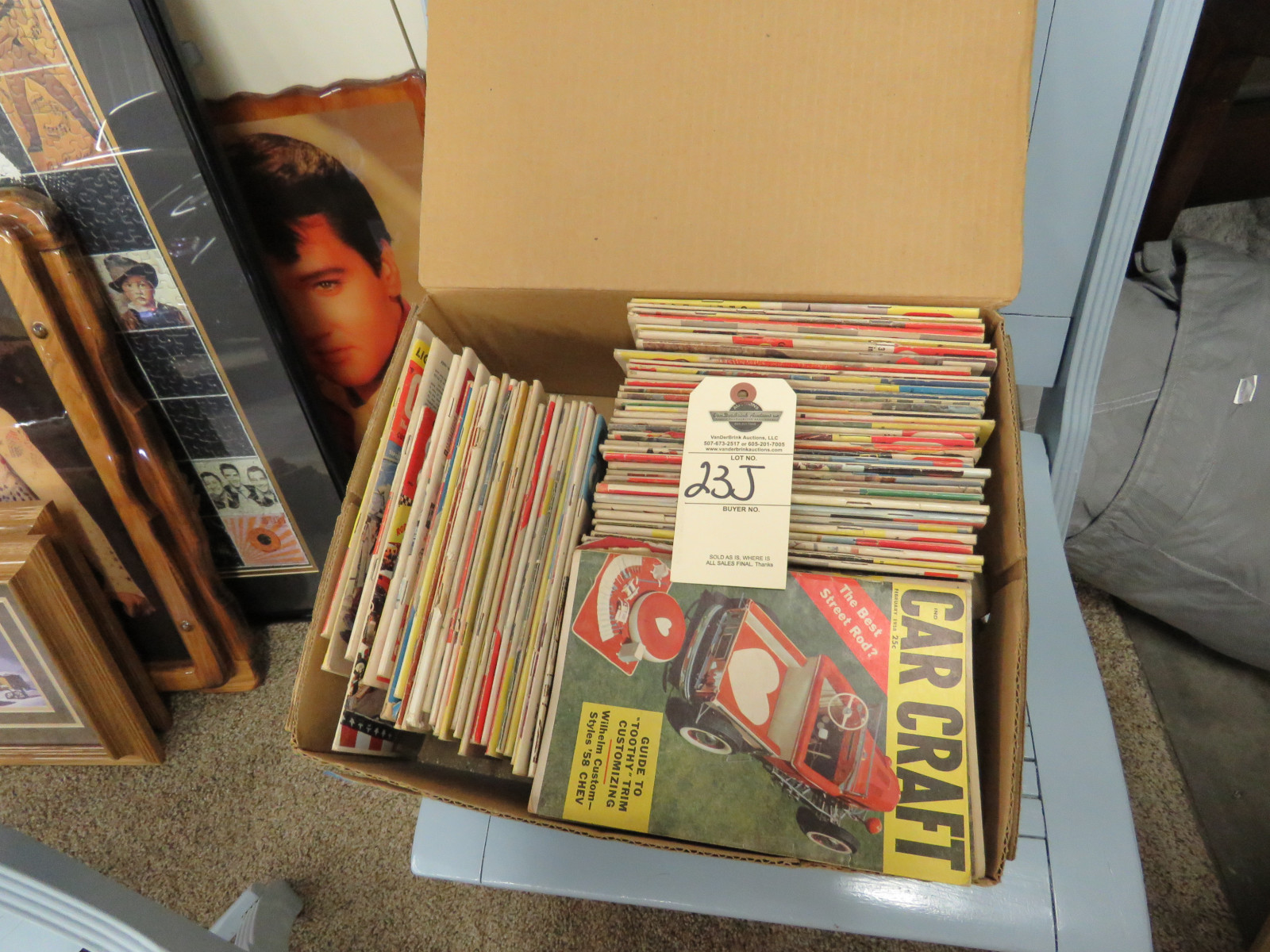 Box of Vintage Car Craft Magazines - Image 1