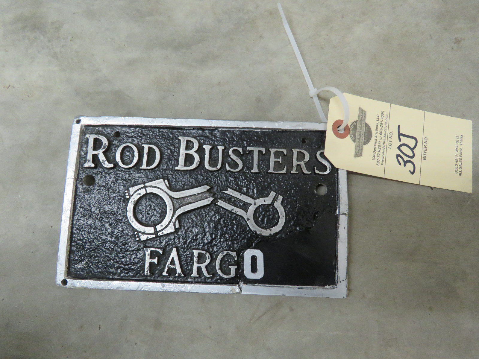 Rod Busters Car Club Plaque from Fargo, ND - Image 1