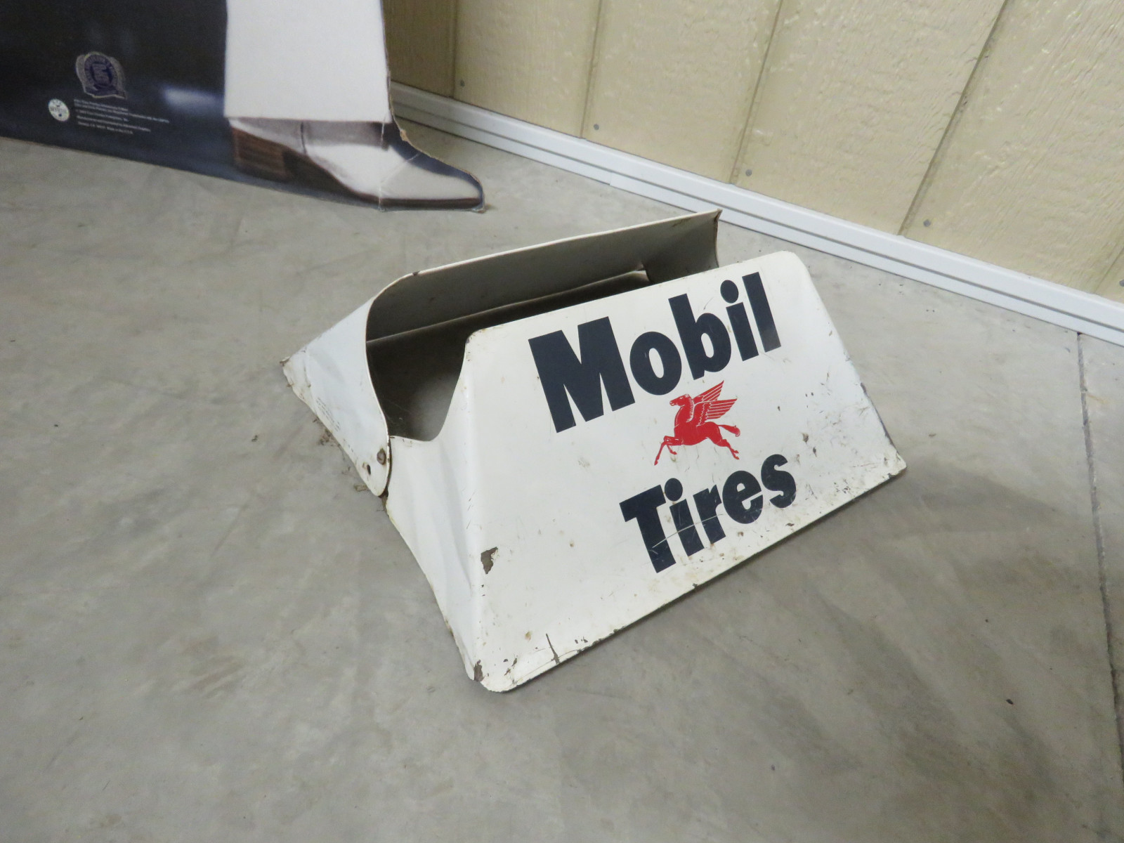 Mobil Tires Painted Tin Tire Display - Image 2
