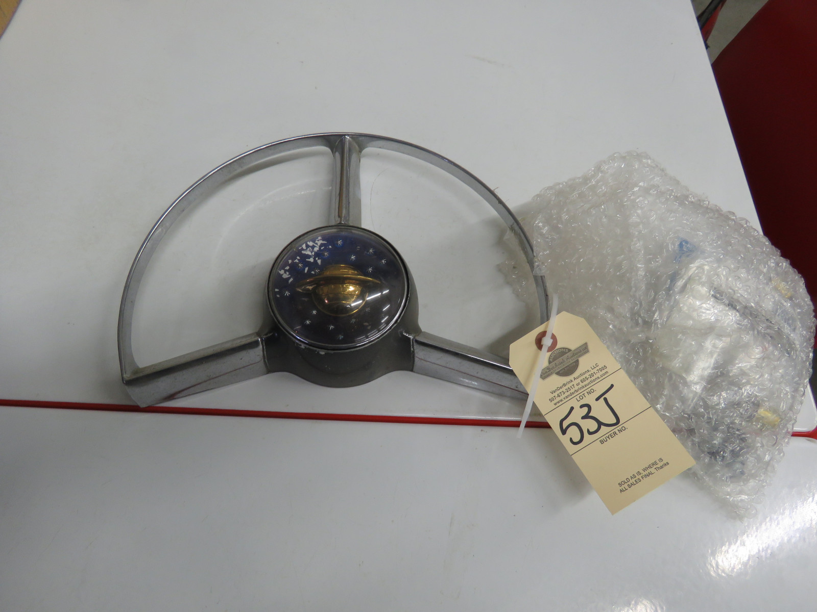 Original Oldsmobile Steering Wheel Center Ring - Image 1