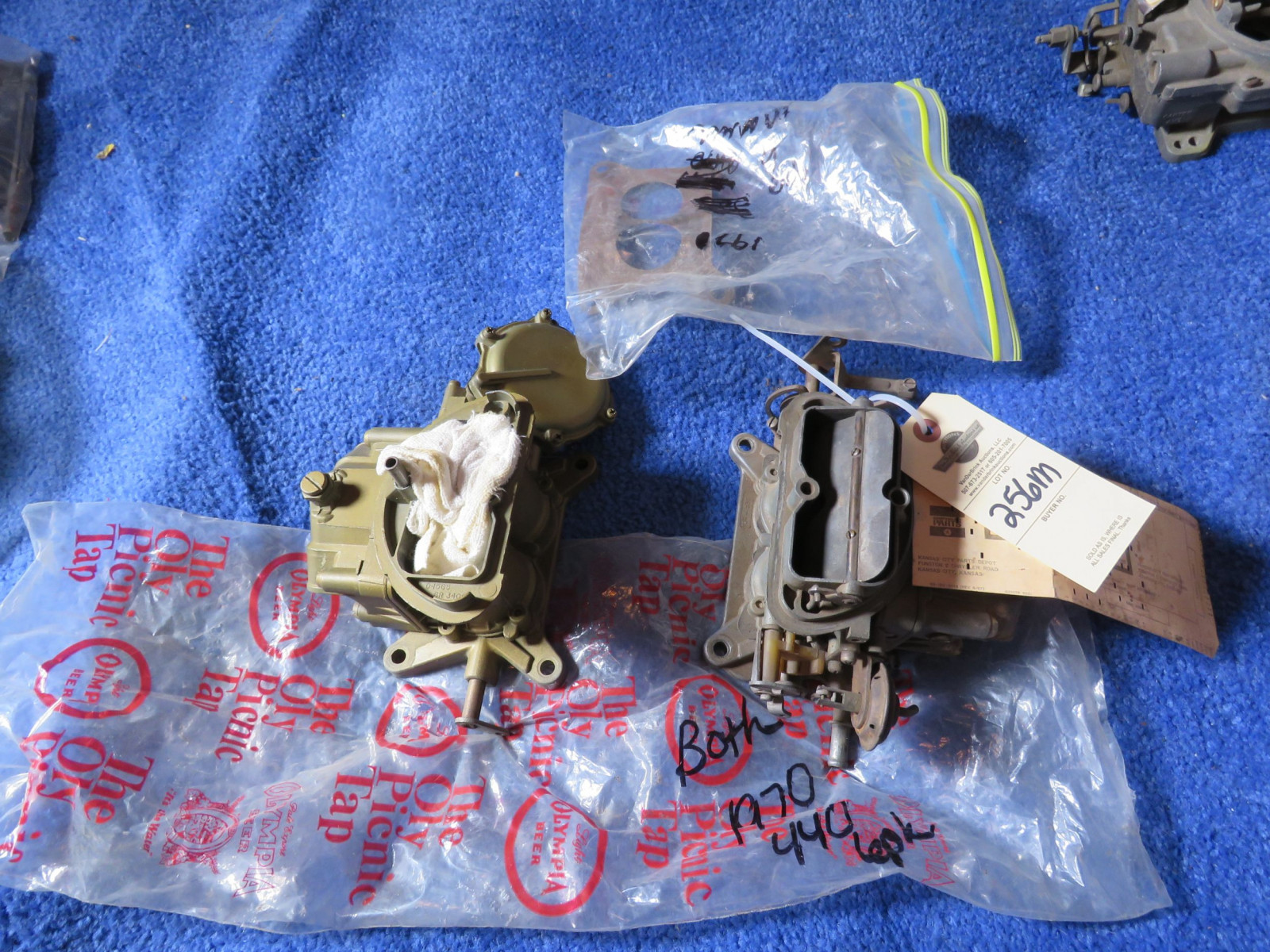 Chrysler 1970 440 Manual Trans  6 Pack Carb Set Up- Partial - Image 1