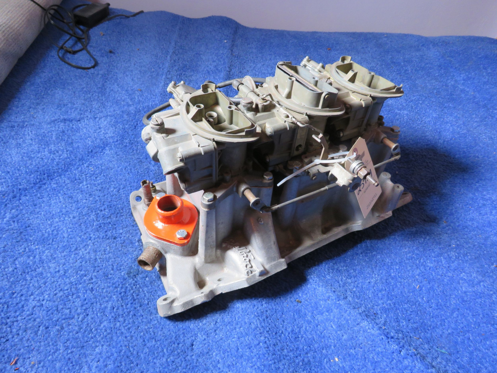 1970 Chrysler 340 Manual Trans 6 Pack Carb Set UP with Edelbrock Al2 Intake Set Up - Image 1