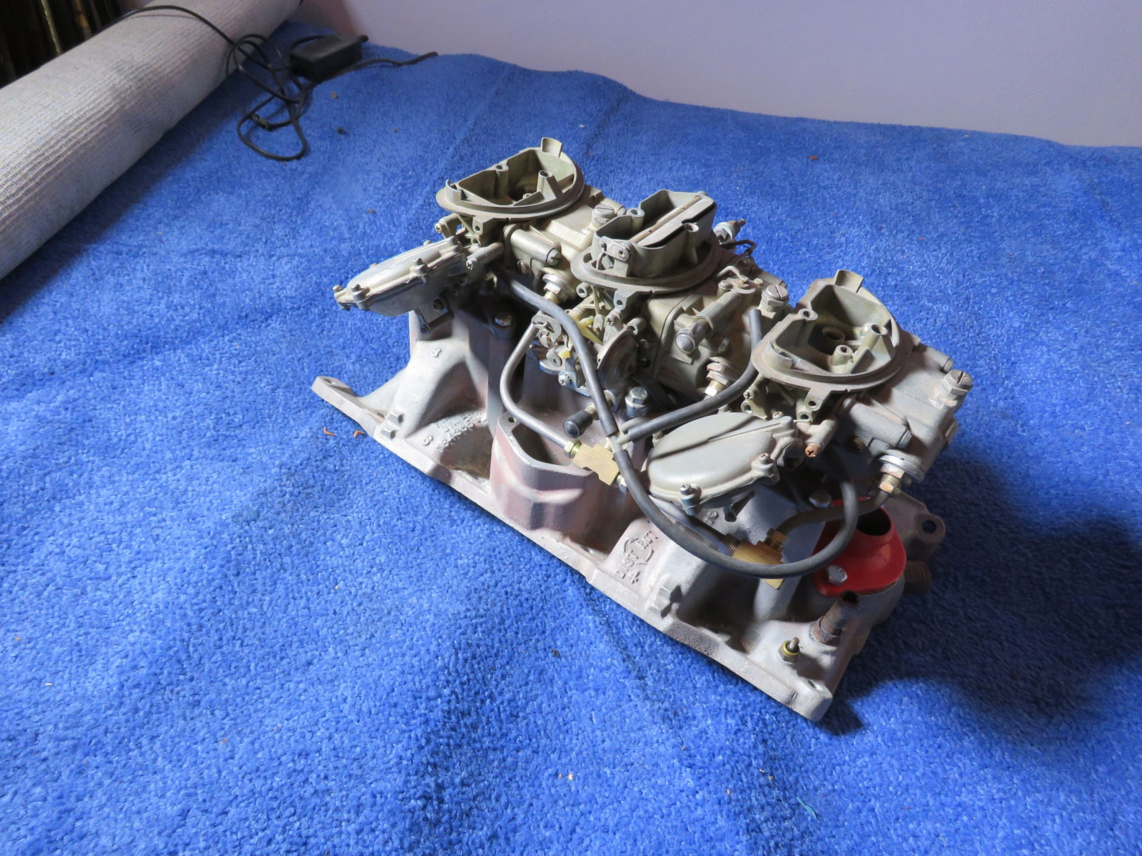 1970 Chrysler 340 Manual Trans 6 Pack Carb Set UP with Edelbrock Al2 Intake Set Up - Image 3
