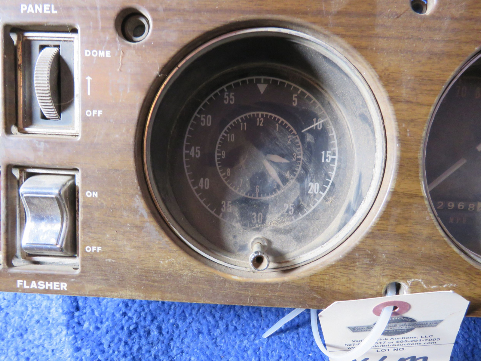 MOPAR B Body Ralley Dash Original with Tick Tach 150mph Speedometer - Image 2