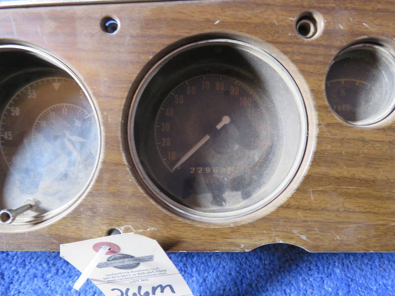 MOPAR B Body Ralley Dash Original with Tick Tach 150mph Speedometer - Image 3