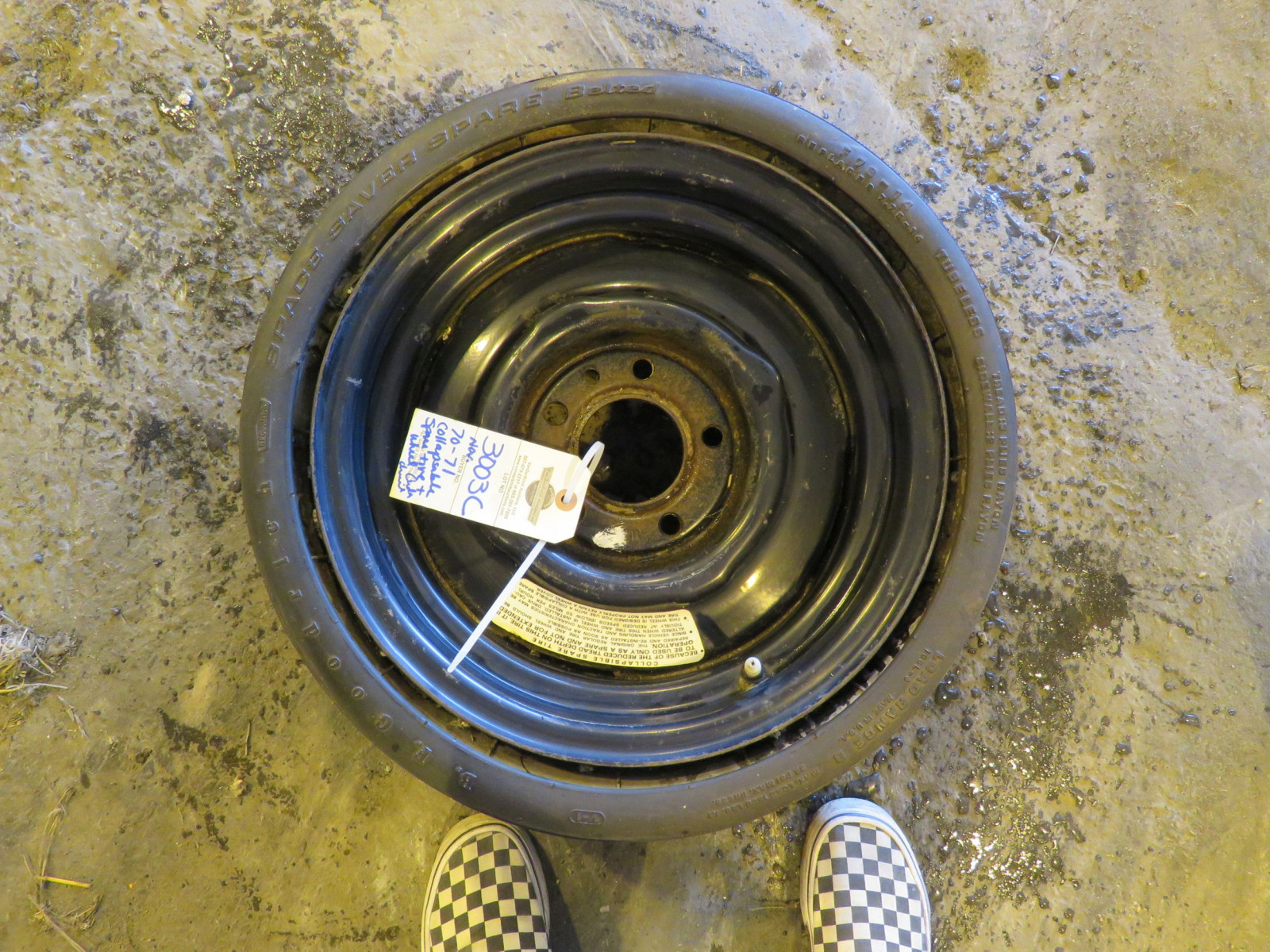RARE BF Goodrich Collapsible Spare Tire for 426 HEMI CUDA, Challenger - Image 1