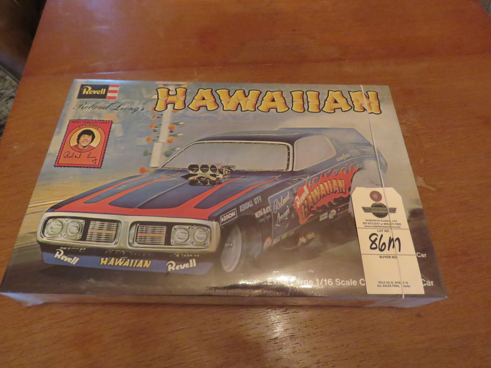 1996 Revell NIB 1/16 Scale Model - Roland Leong's The Hawaiian Drag Car - Image 1