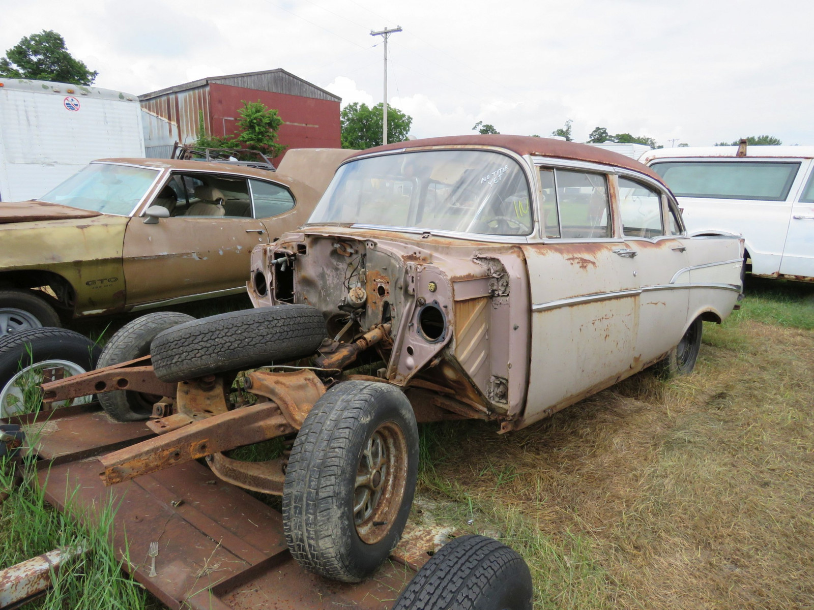 1957 Chevrolet 4dr Sedan for Rod or Restore - Image 1
