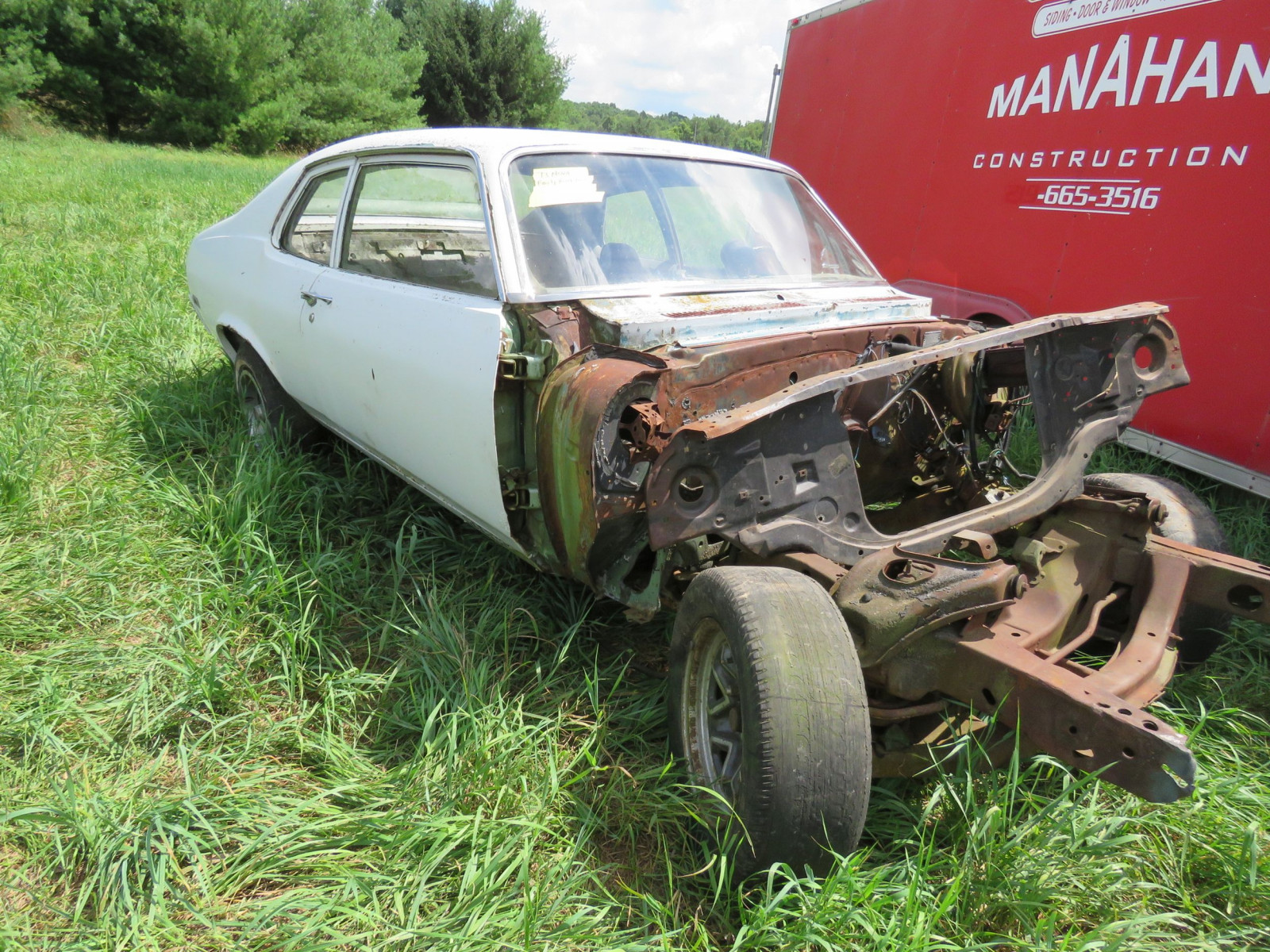 1973 Chevrolet Nova Body for Restore or Parts - Image 3