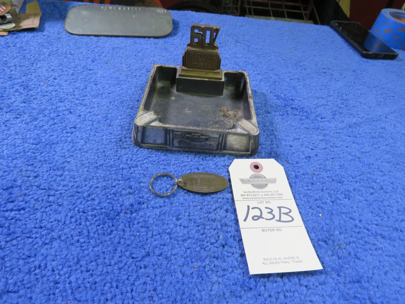 Chevrolet Key Chain and Ash Tray - Image 1