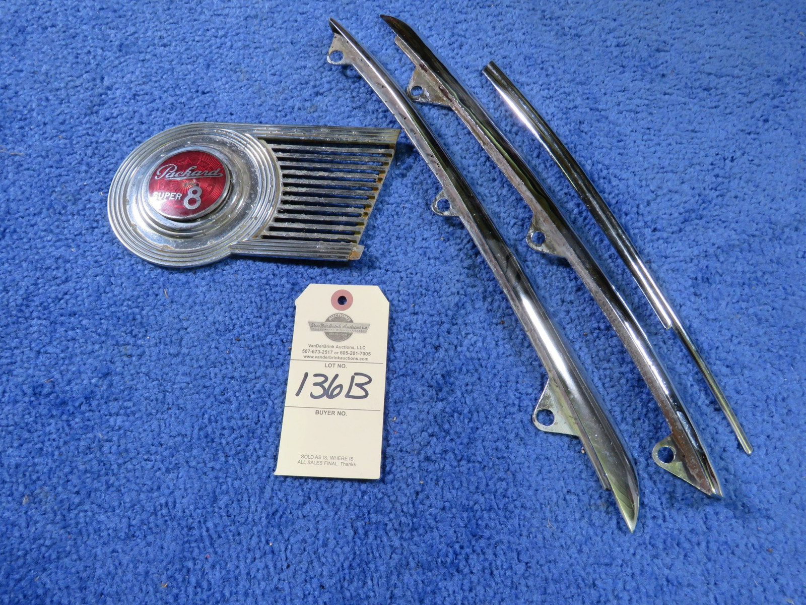 Packard Emblem and 1940 Ford Standard Model A Lip Molding and Wisker - Image 1