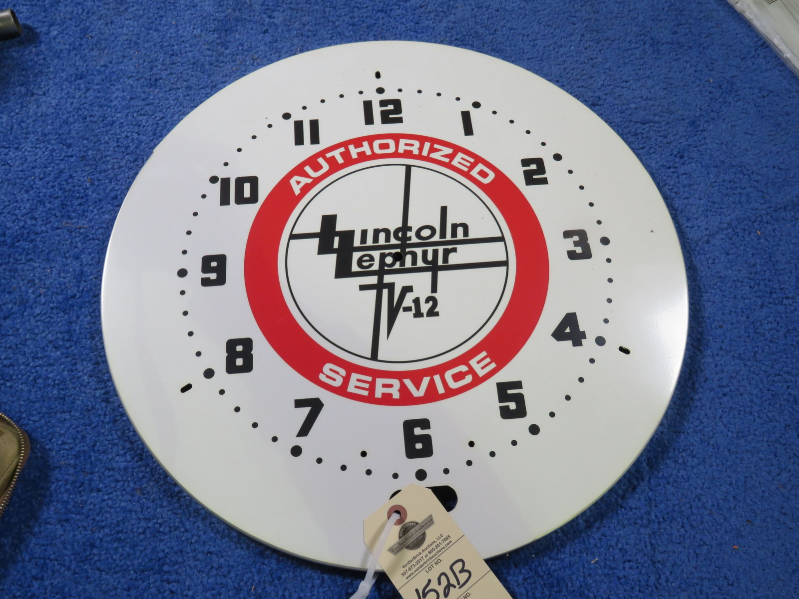 Lincoln Zephyer Clock with no Hands or working - Image 1