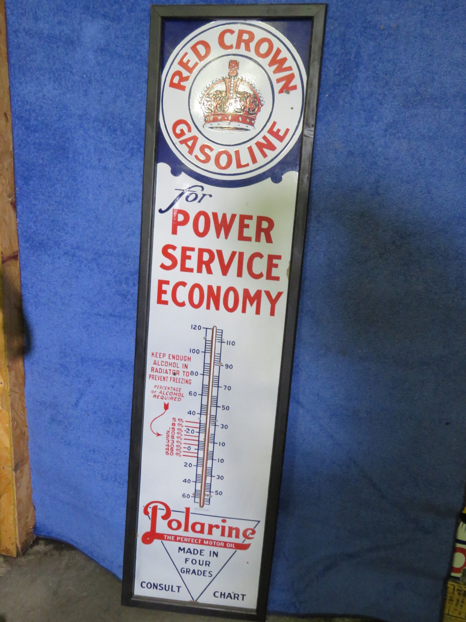 Red Crown-Polarine Porcelain Thermometer - Image 2