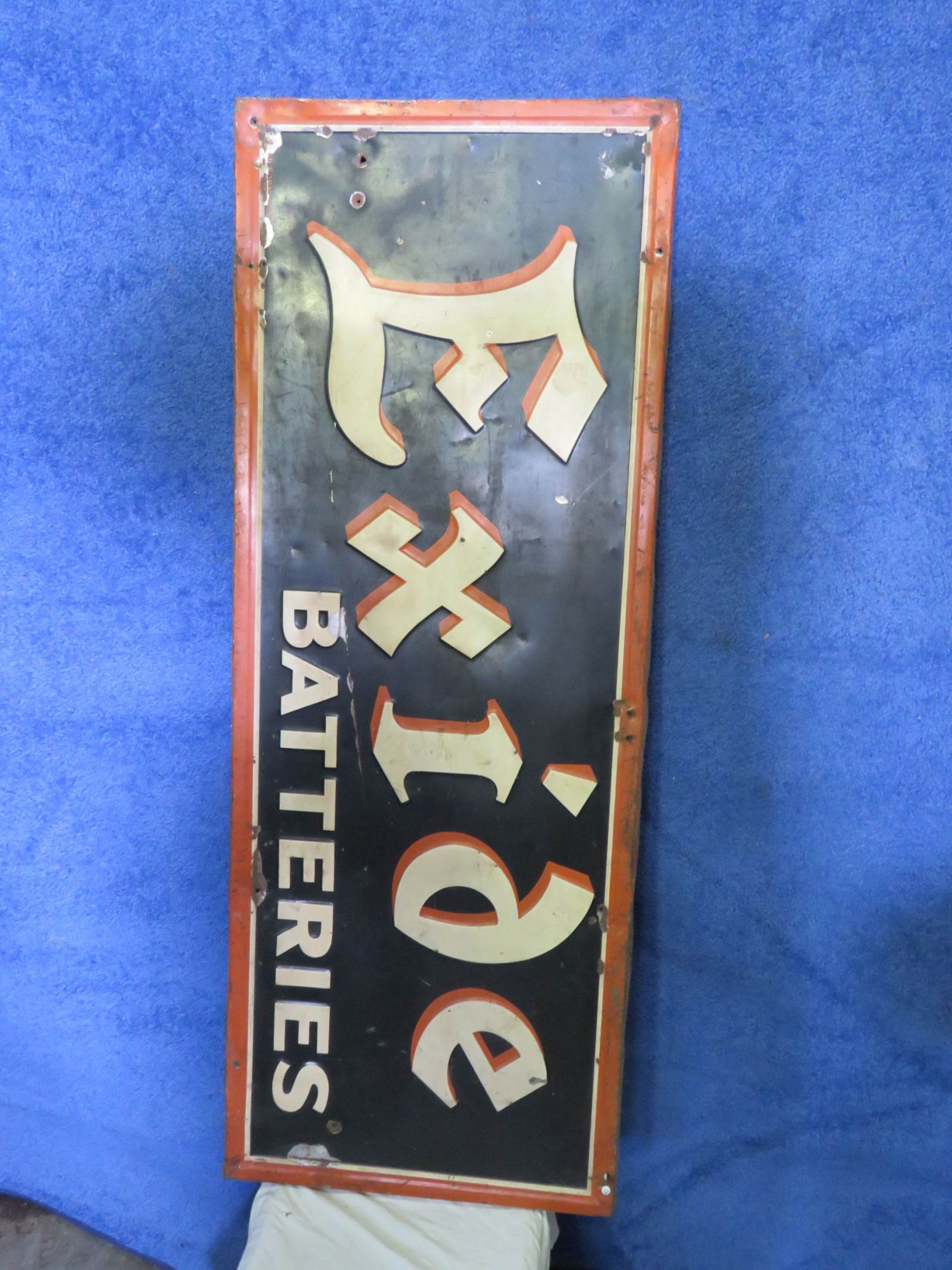 Excide BatteriesPainted Tin Sign - Image 1