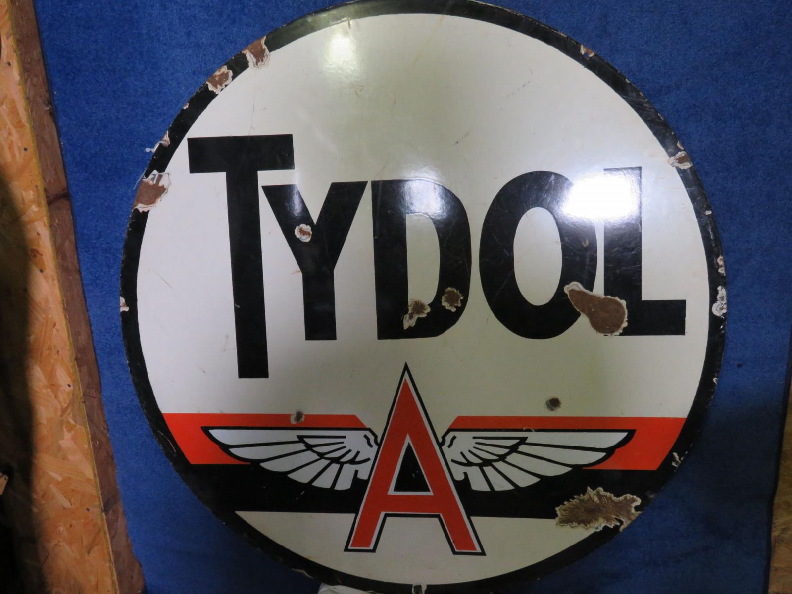 Tydol Flying A DS Porcelain Sign - Image 1