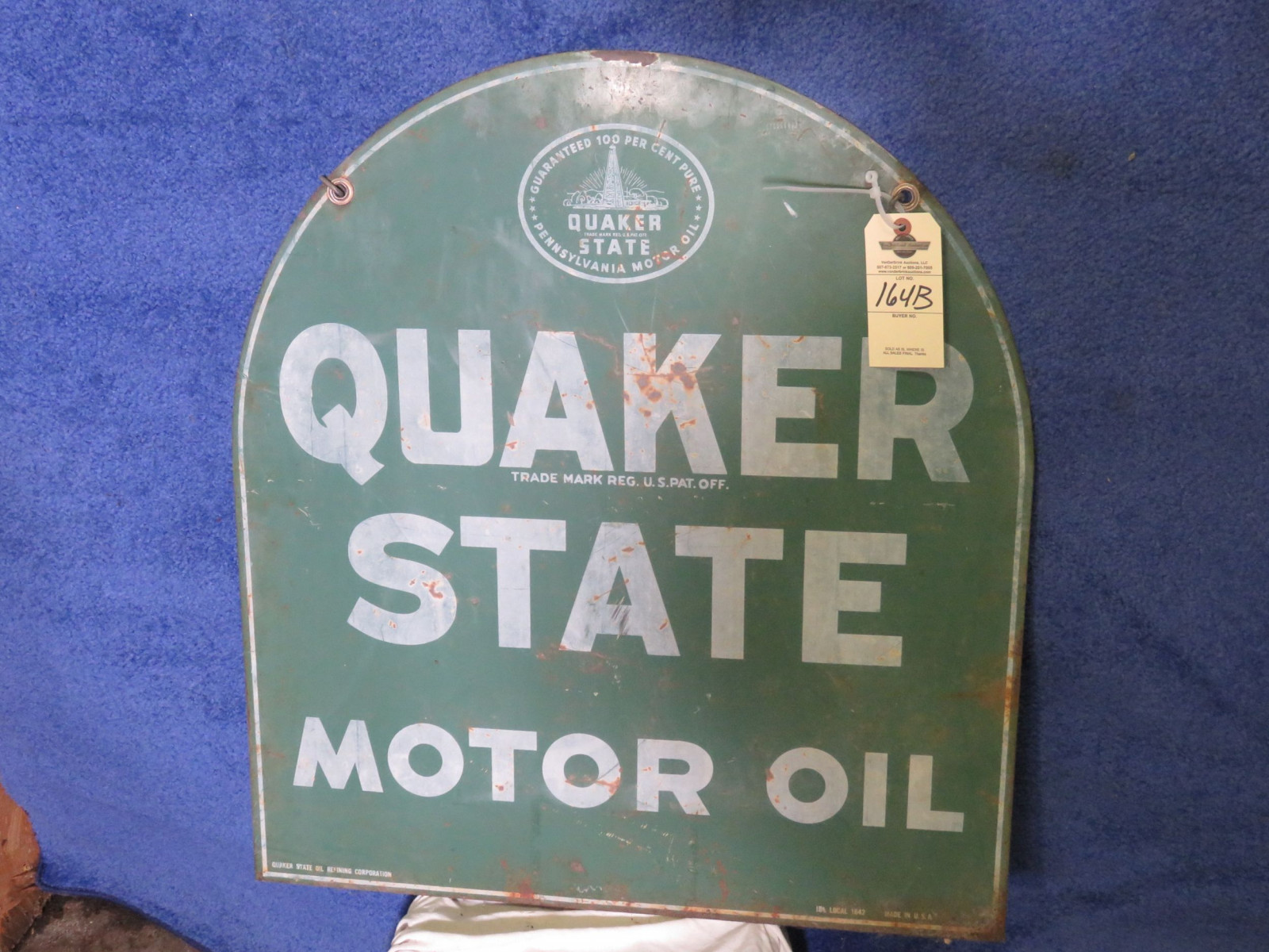 Quaker State DS Painted Tin Sign - Image 1