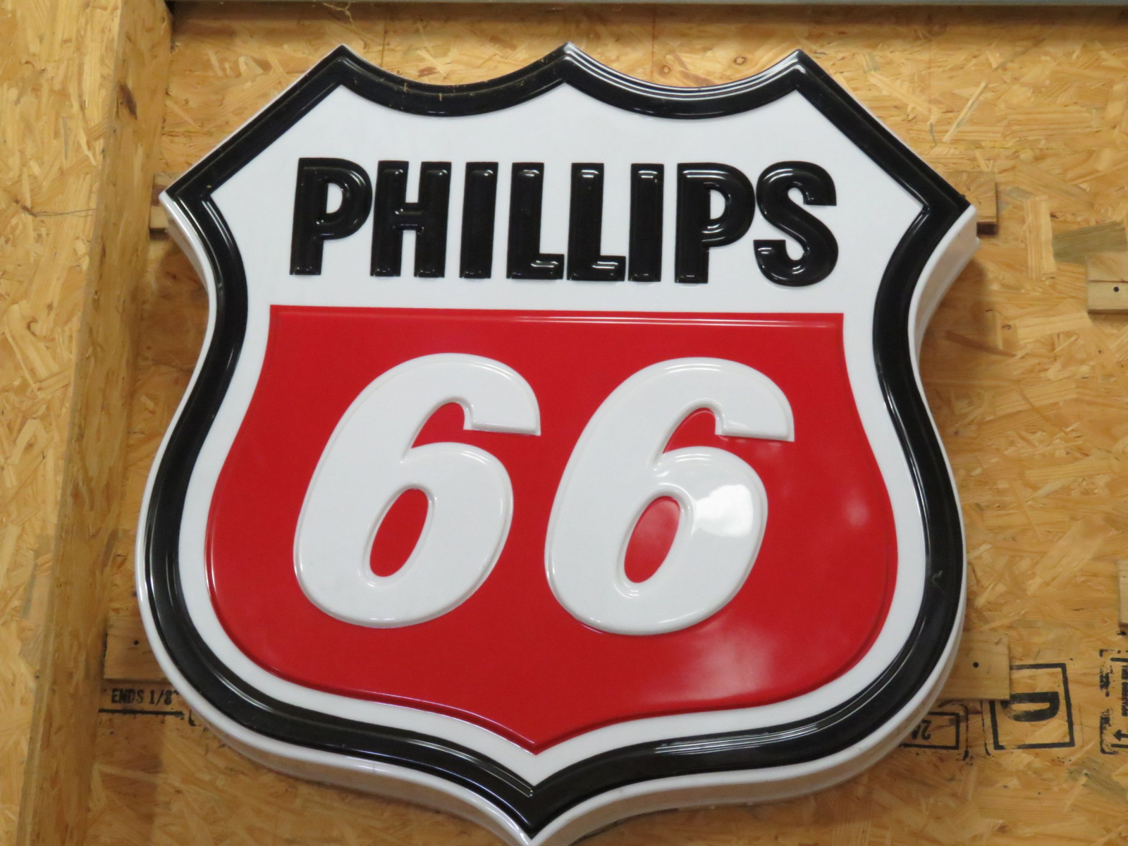 Phillips 66 SS Plastic Sign - Image 1