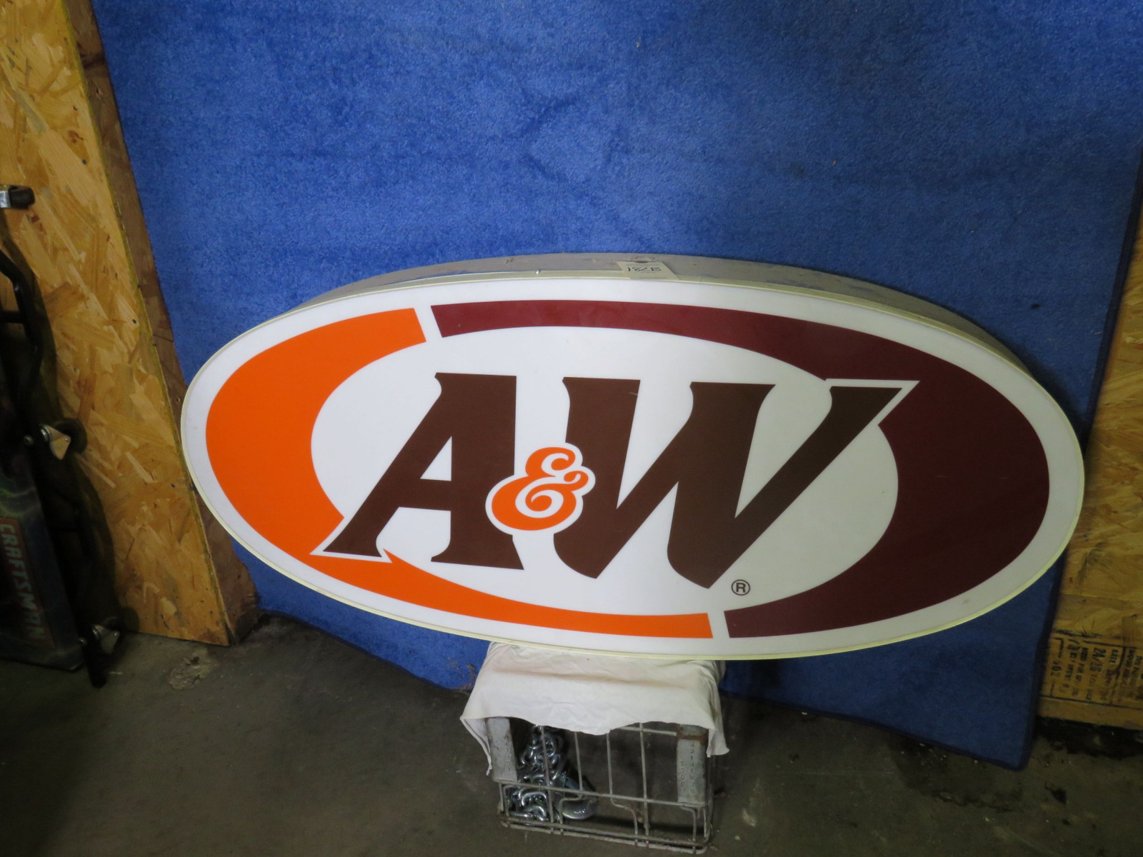 A&W SS Plastic Sign - Image 1