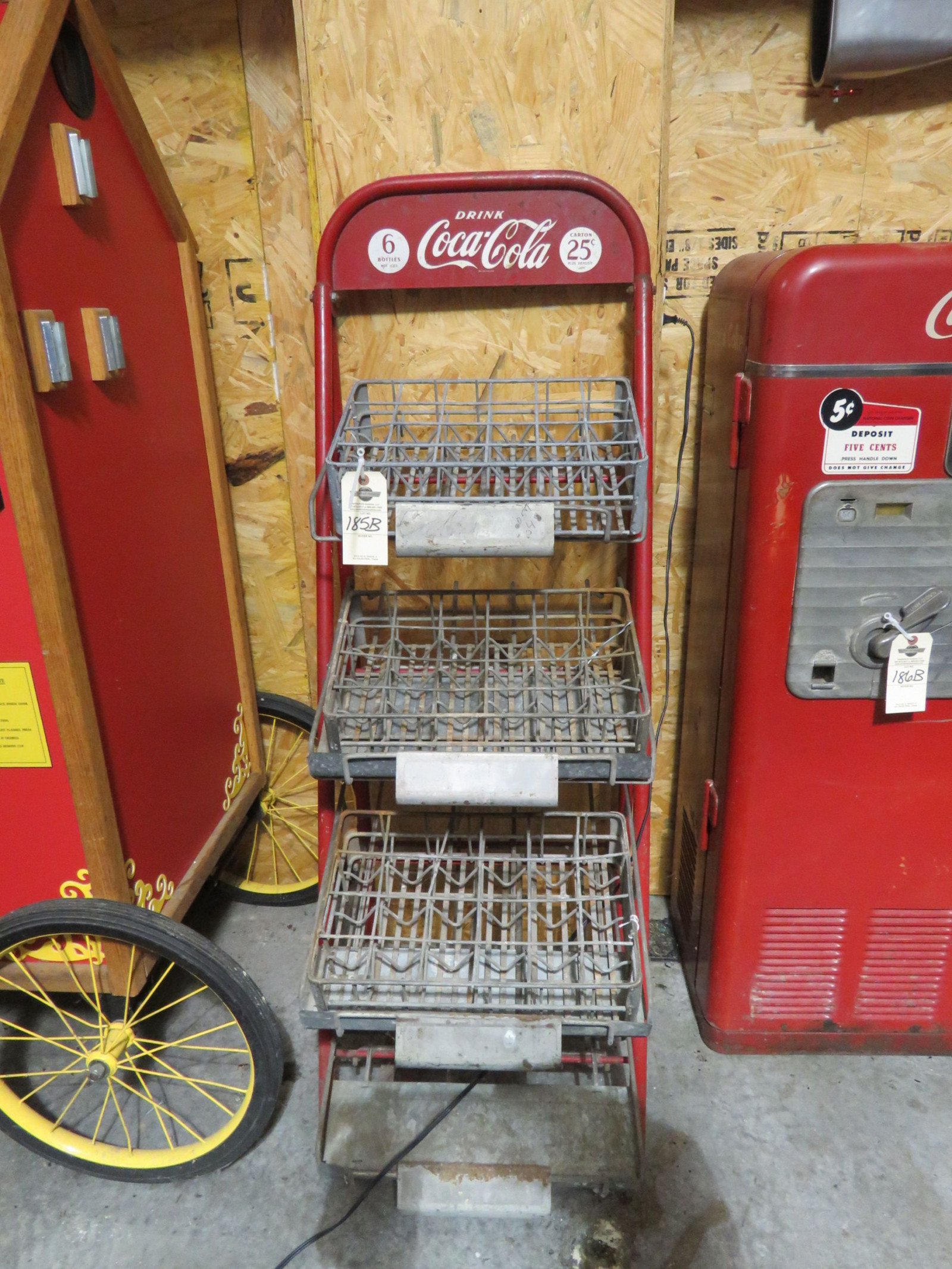 coca Cola Display Rack with Racks - Image 1