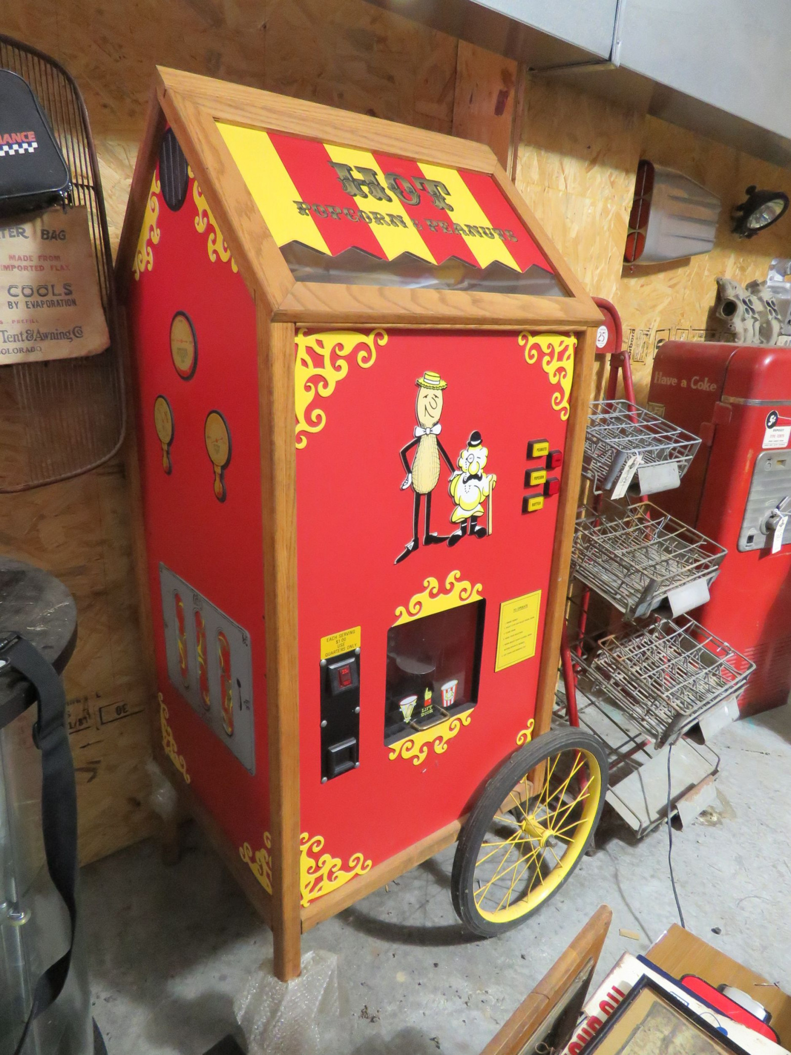 Newer Model and Never Used Popcorn and Peanut Warmer Cart - Image 1