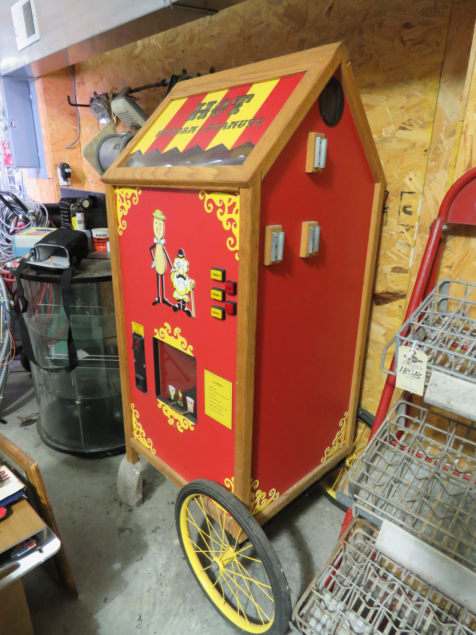 Newer Model and Never Used Popcorn and Peanut Warmer Cart - Image 2