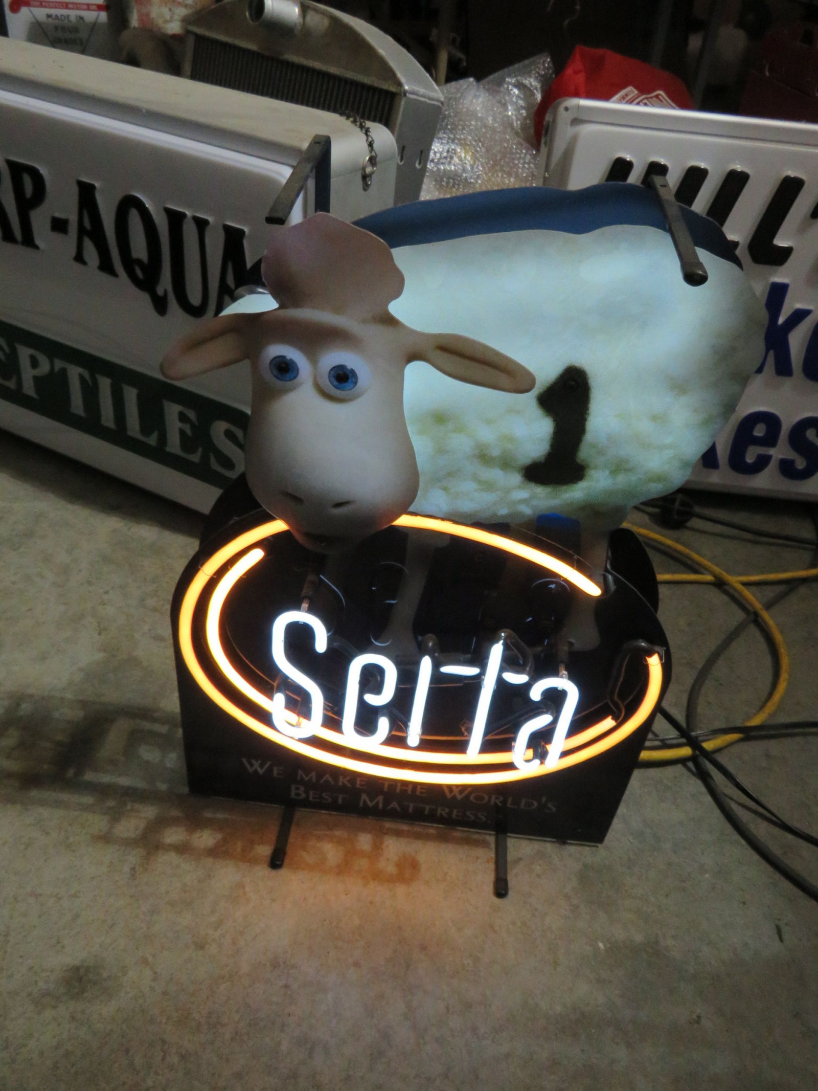Serta Sheep Neon Stand UP Sign-Works - Image 1