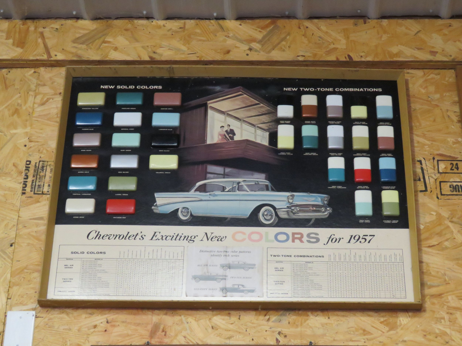 1957 Chervrolet Paint colors Framed Display - Image 1