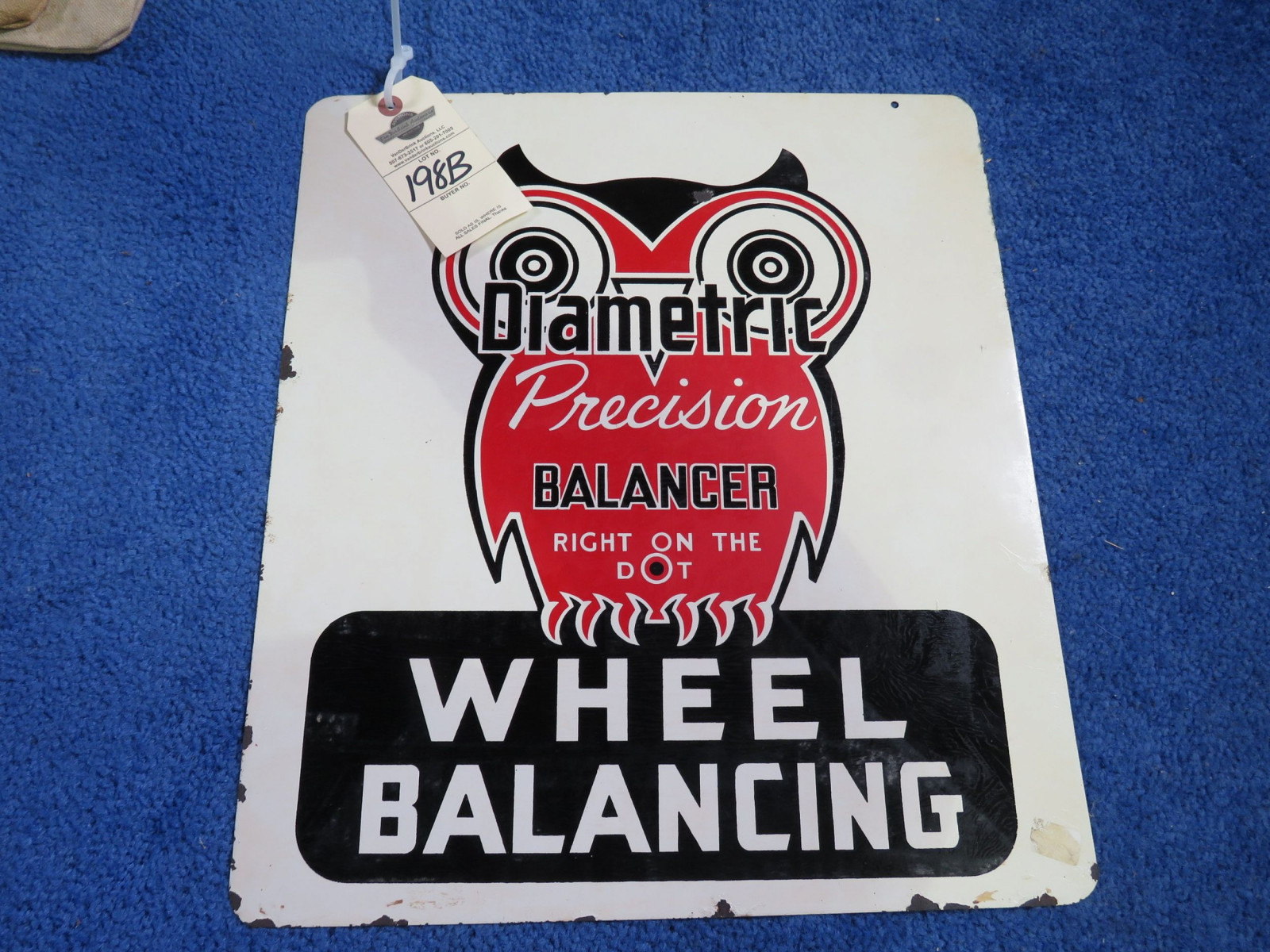 Diametric Balances DS painted Tin Sign - Image 1