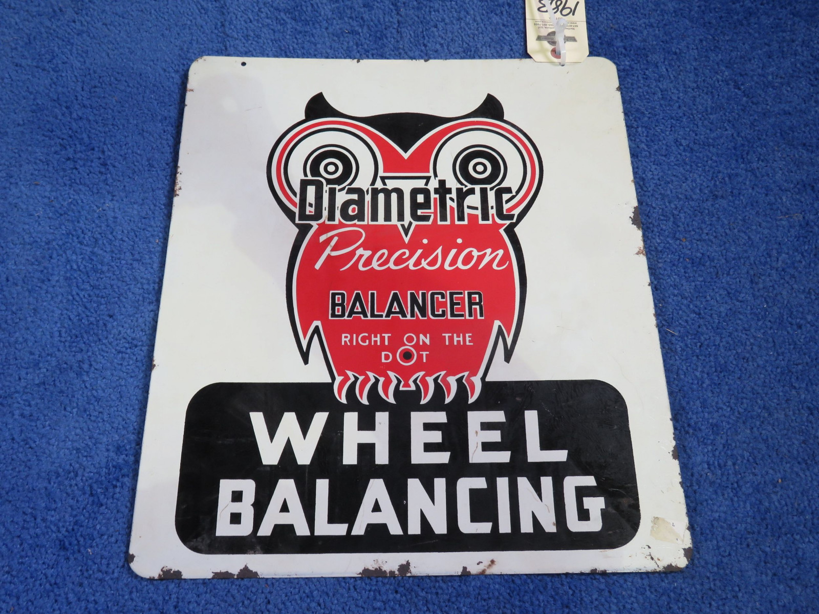Diametric Balances DS painted Tin Sign - Image 2