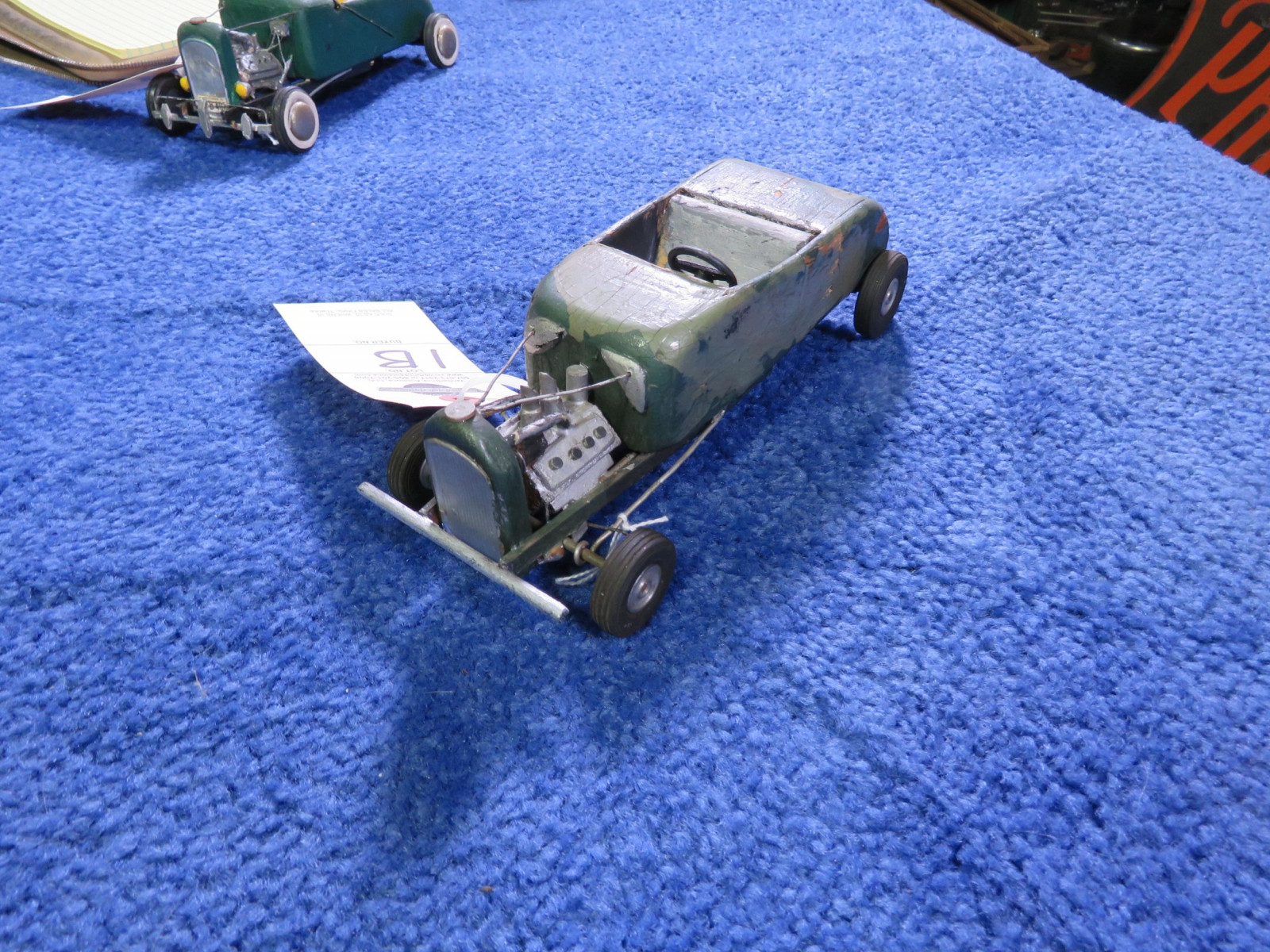 Vintage Hommade Wood Hot Rod Toy - Image 2