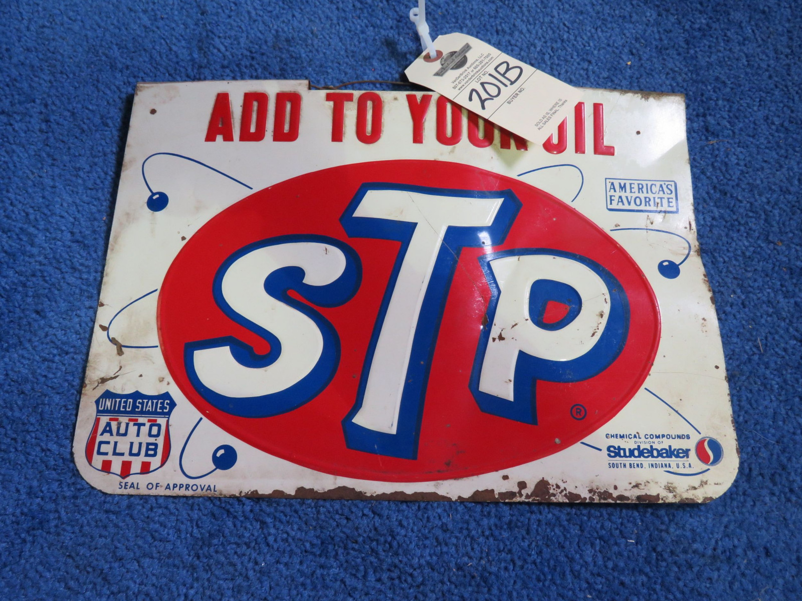 STP SS Painted Tin Sign-Studebaker - Image 1