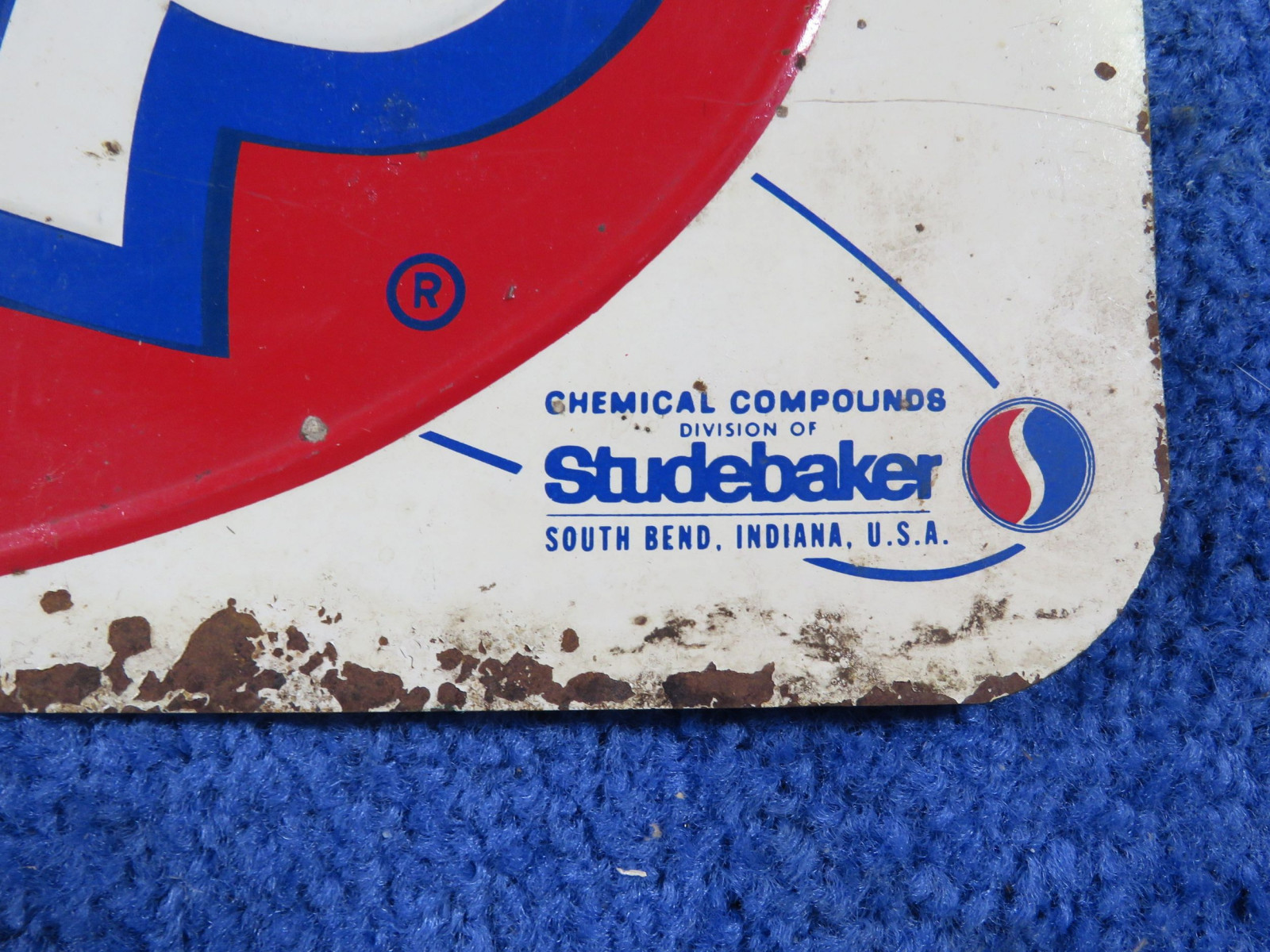 STP SS Painted Tin Sign-Studebaker - Image 2