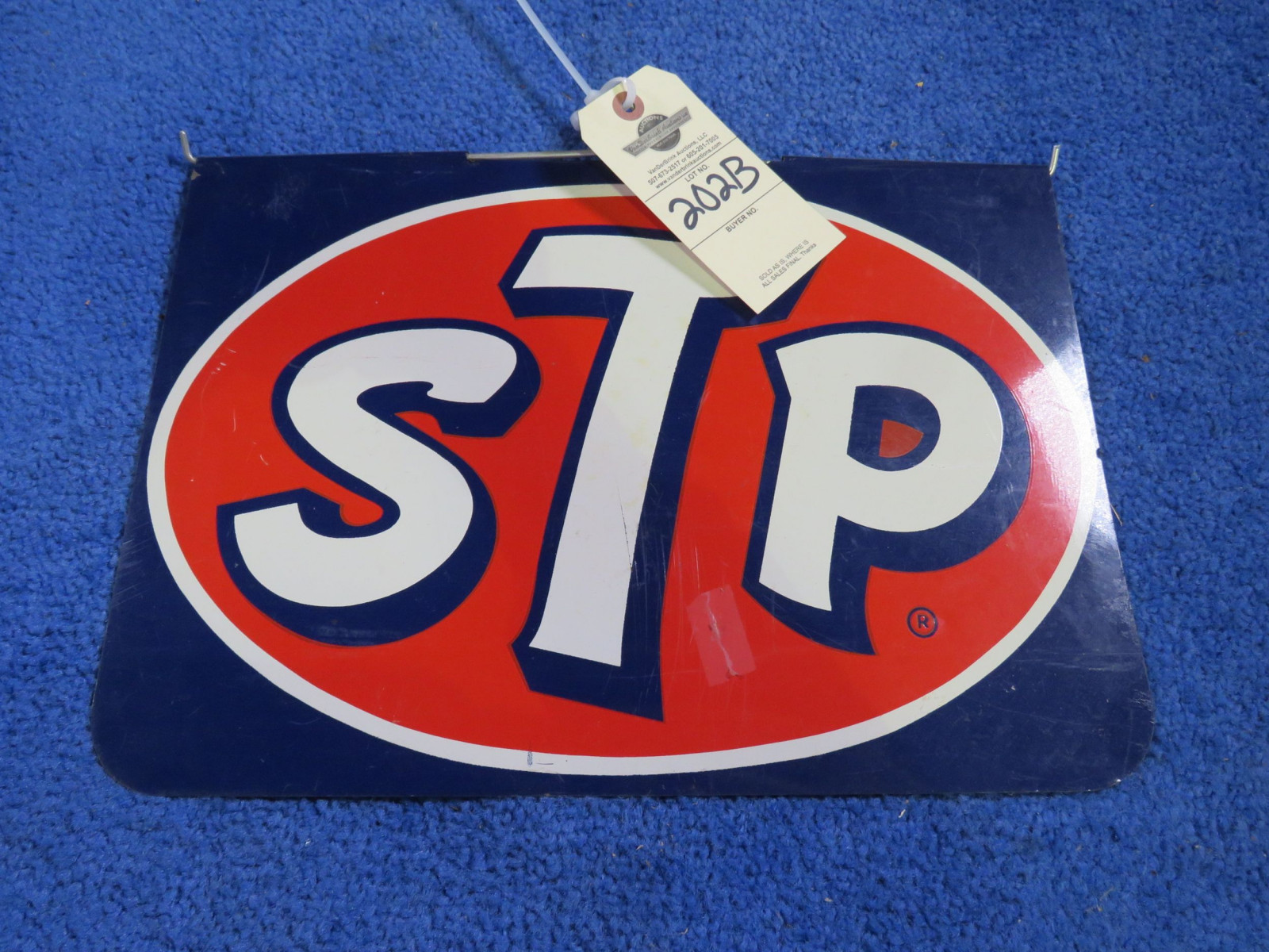 STP Painted Tin DS Painted Sign- Race Car Stopper? - Image 1