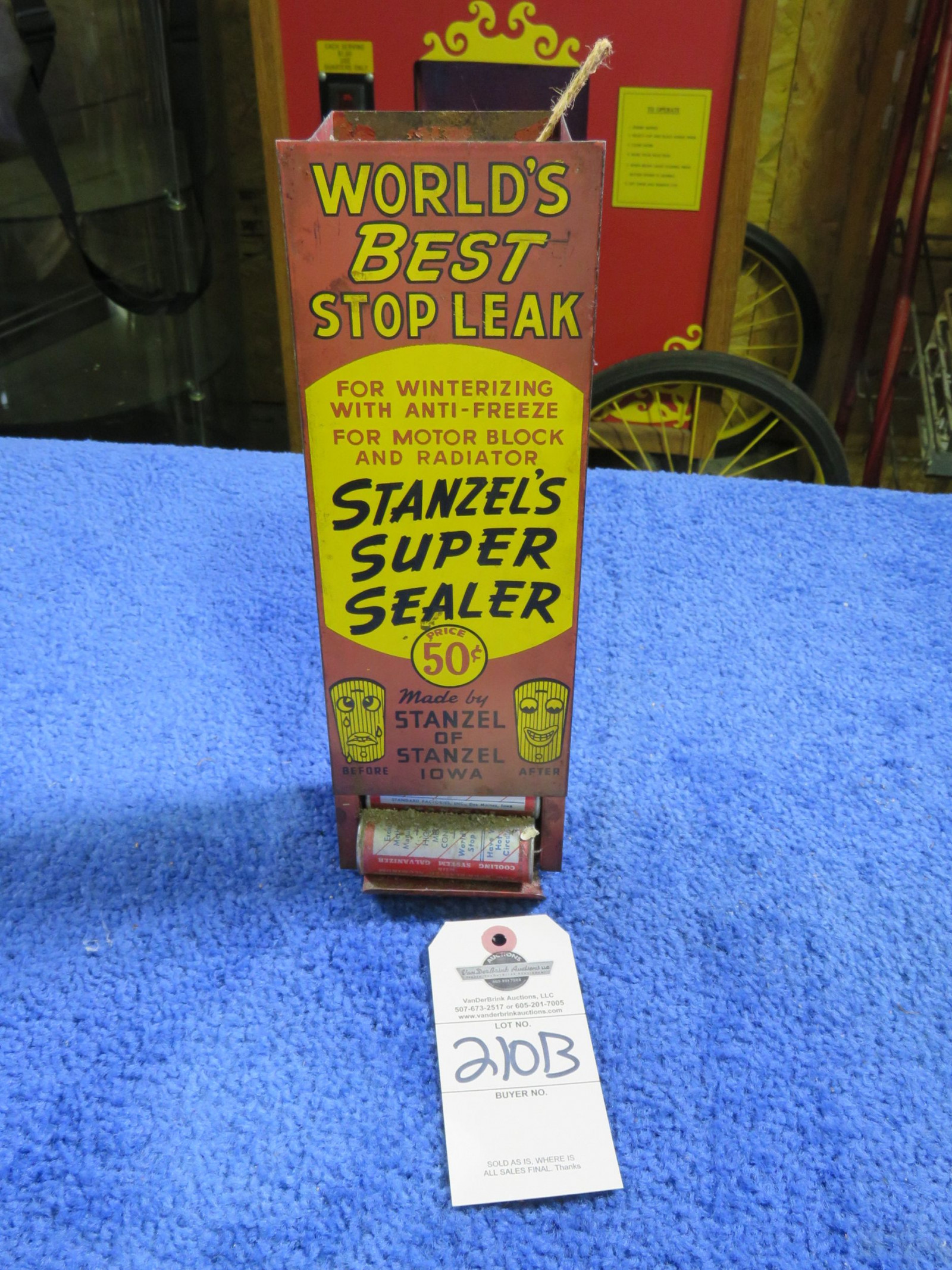 Stop Seal Stanzel Display Painted Tin - Image 1