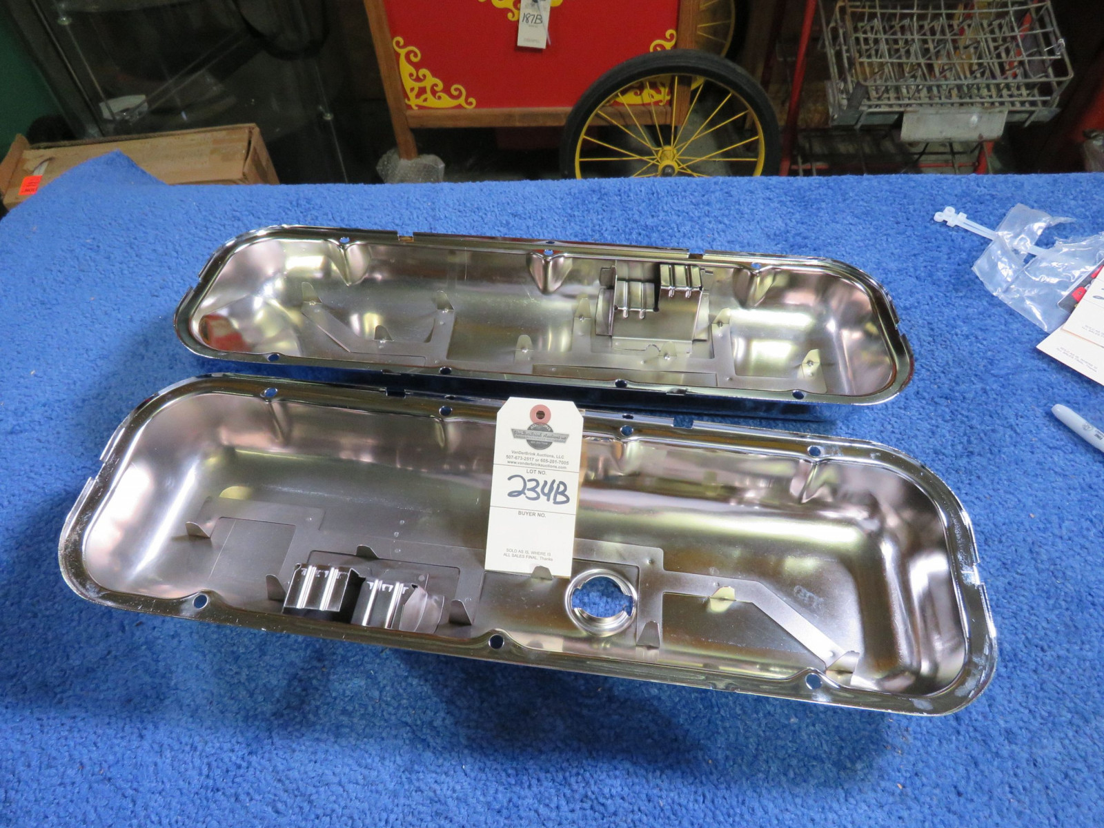 Chevrolet Big block Valve Covers with Drip Rails - Image 1
