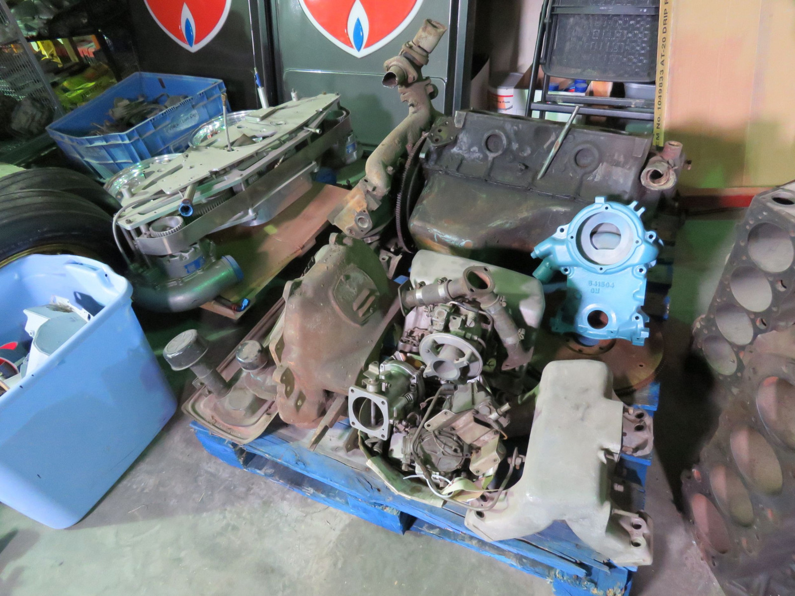 1958 Pontiac 258 370 CU Motor with Rare Fuel Injection Project - Image 1