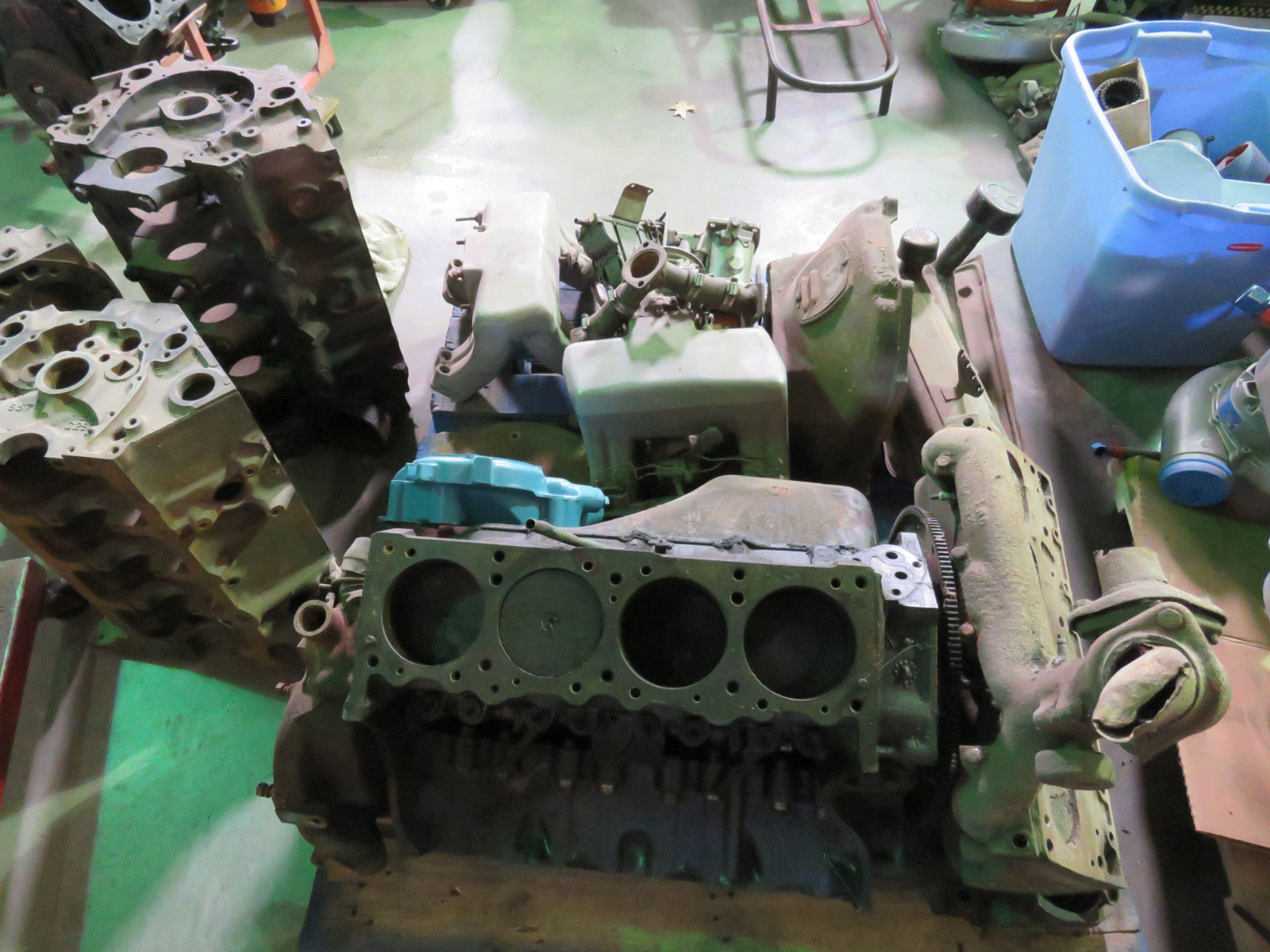 1958 Pontiac 258 370 CU Motor with Rare Fuel Injection Project - Image 4