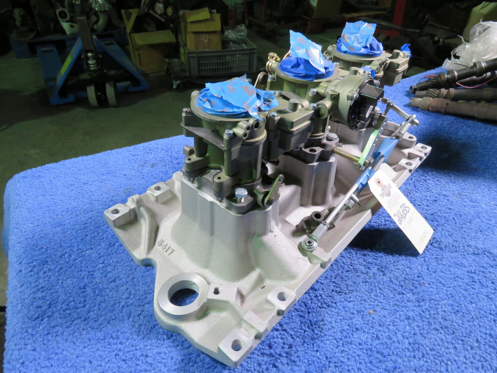 Tri-Power with Edelbrock Intake and Rochester Carbs - Image 2