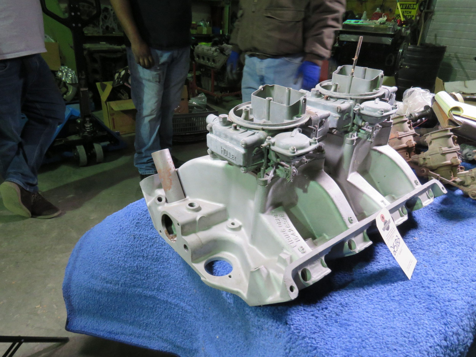 Hi-Riser AL2 Intake for Ford 2-4bbl Holley  Supposed to have been from Ronny Sox Comet - Image 3
